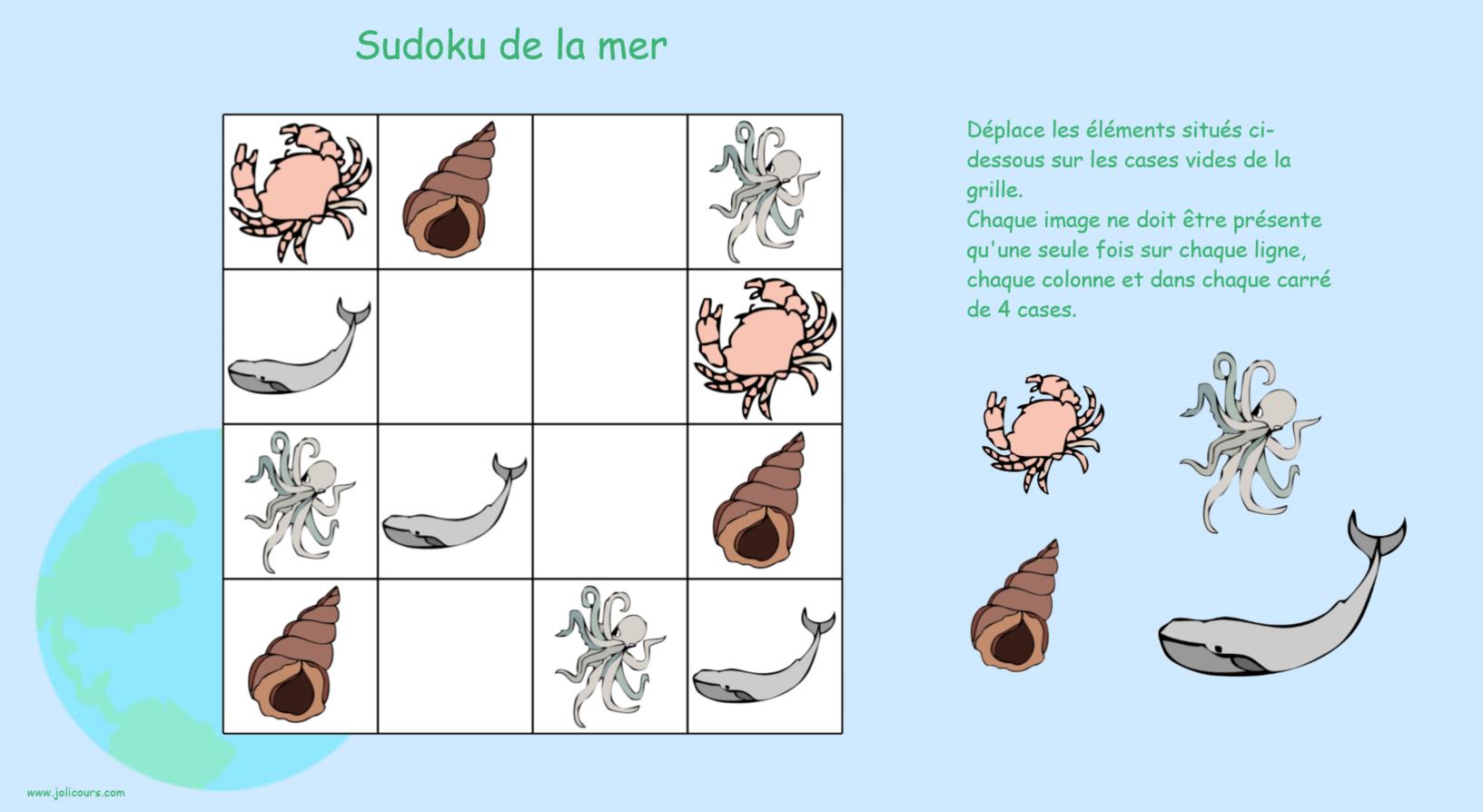 Créer Un Sudoku Avec Notebook – Le Blog De Jolicours. pour Sudoku Maternelle À Imprimer