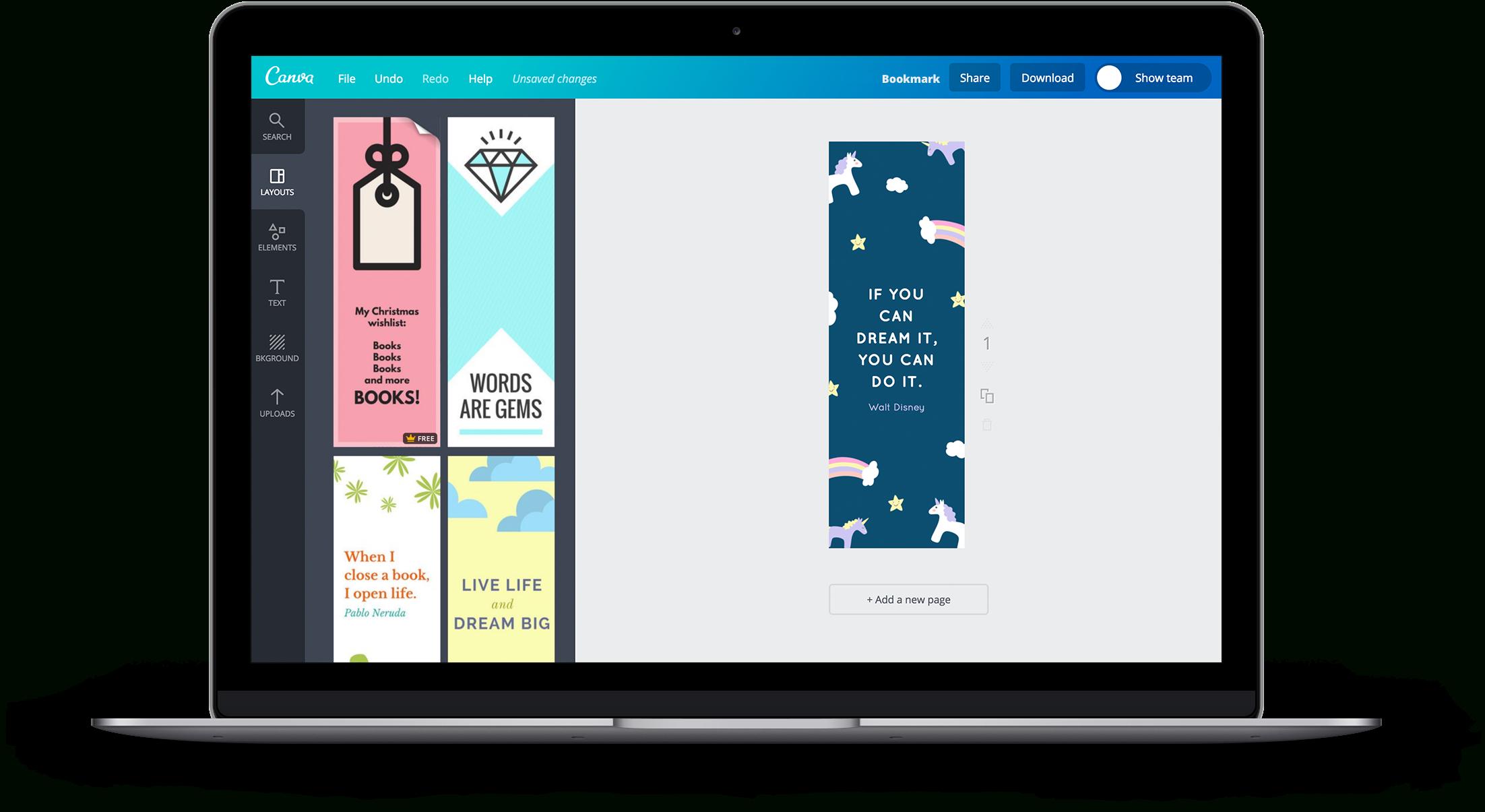 Créez En Ligne Un Superbe Marque-Page À Imprimer - Canva à Marque Page Gratuit À Imprimer