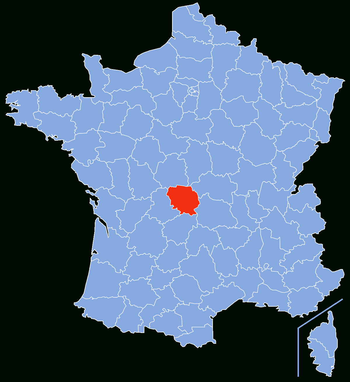 Creuse (Département) — Wikipédia intérieur Grande Carte De France À Imprimer