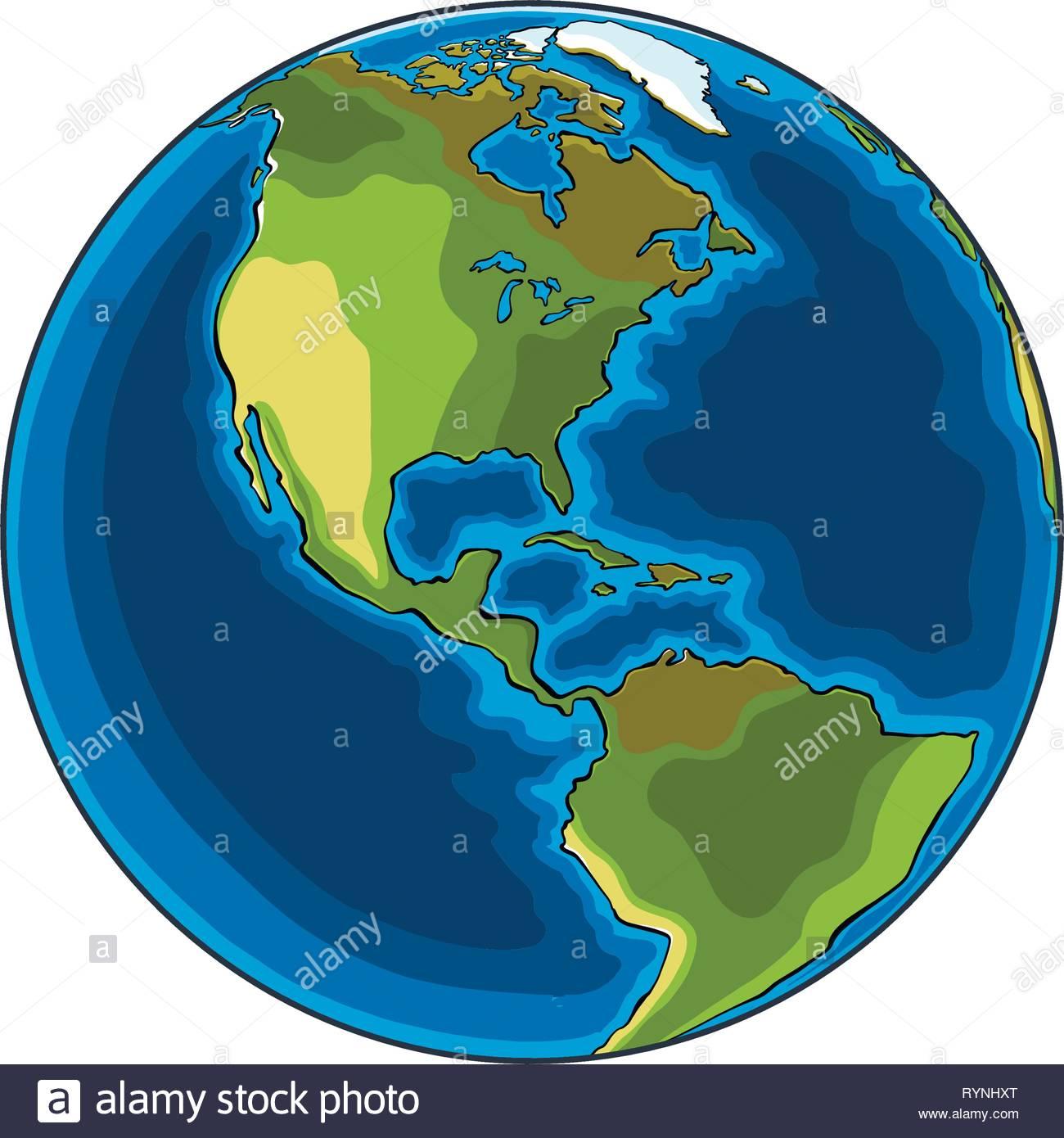 Croquis Dessinés À La Main, De La Planète Terre En Couleur tout Image De La Terre Dessin