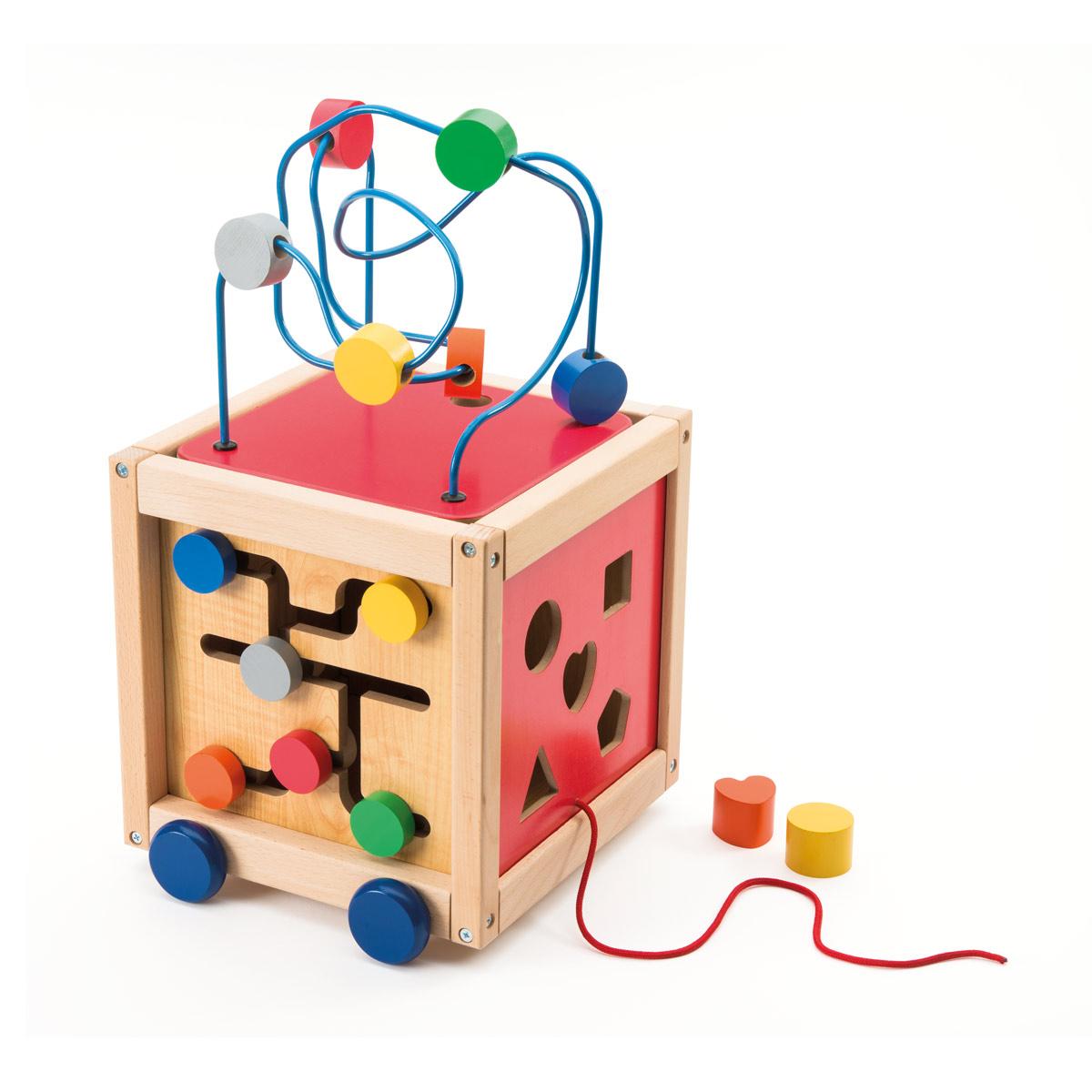 Cube Boulier D'activités À Tirer En Bois destiné Jeux Pour Les Bébé De 1 Ans