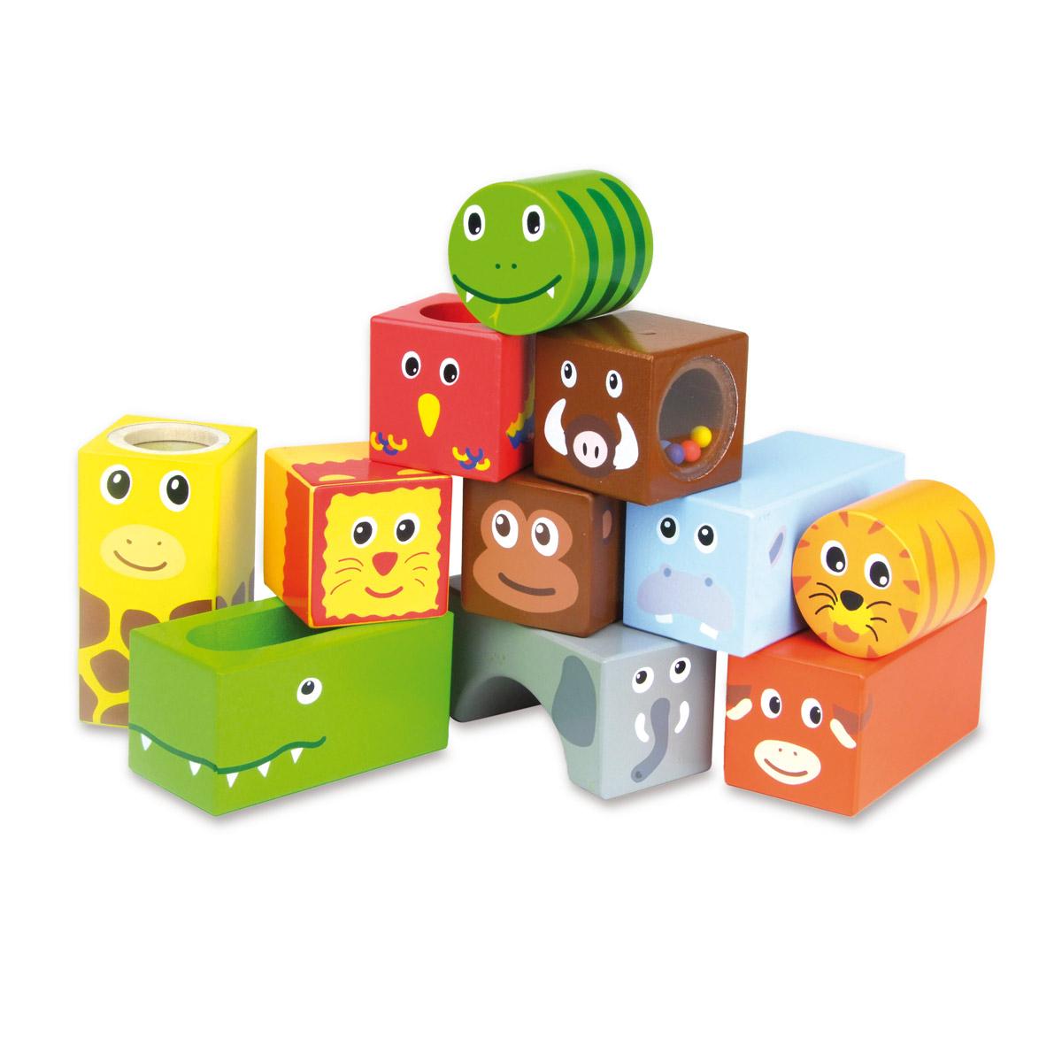 Cubes Sonores Animaux De La Savane à Jeux De Savane