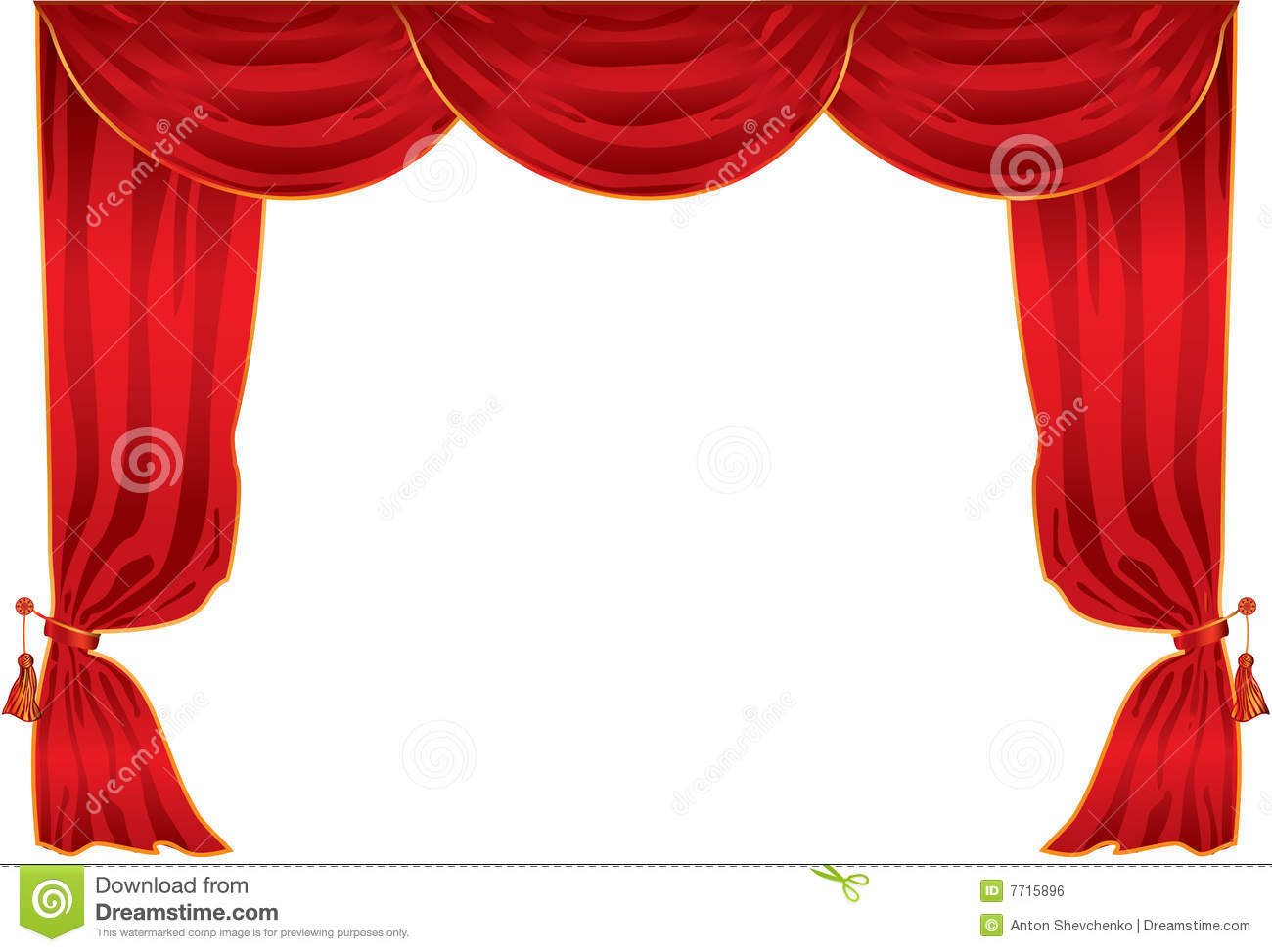 Curtain Theatre Stock Vector. Illustration Of Curtains - 7715896 pour Dessin Theatre