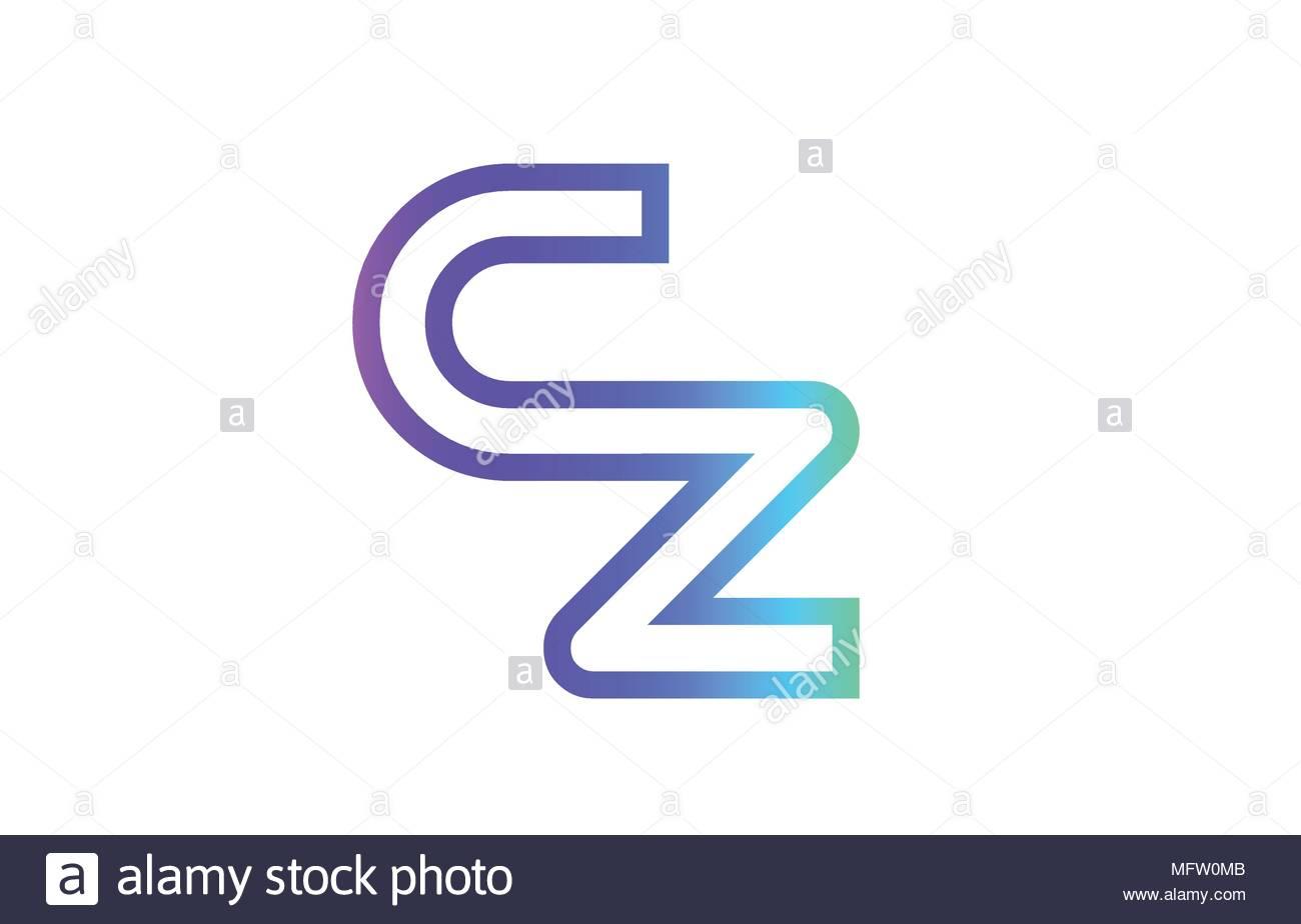 Cz C Z Lettre Alphabet Combinaison Logo Vector Icône à Modele Lettre Alphabet