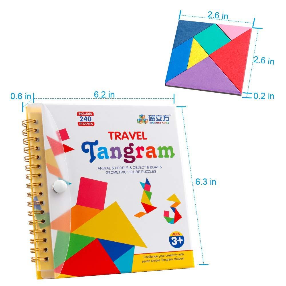 D Fantix Seyahat Tangram Bulmaca 3 Set Manyetik Tangram Yol Gezisi Tangoes  Yapboz Şekiller Diseksiyon Oyunları Çözüm avec Tangram Simple