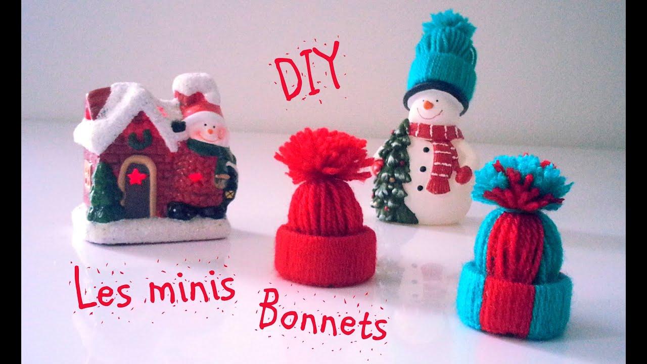 D.i.y Déco Noël Les Minis Bonnets En Laine à Fabrication De Pere Noel