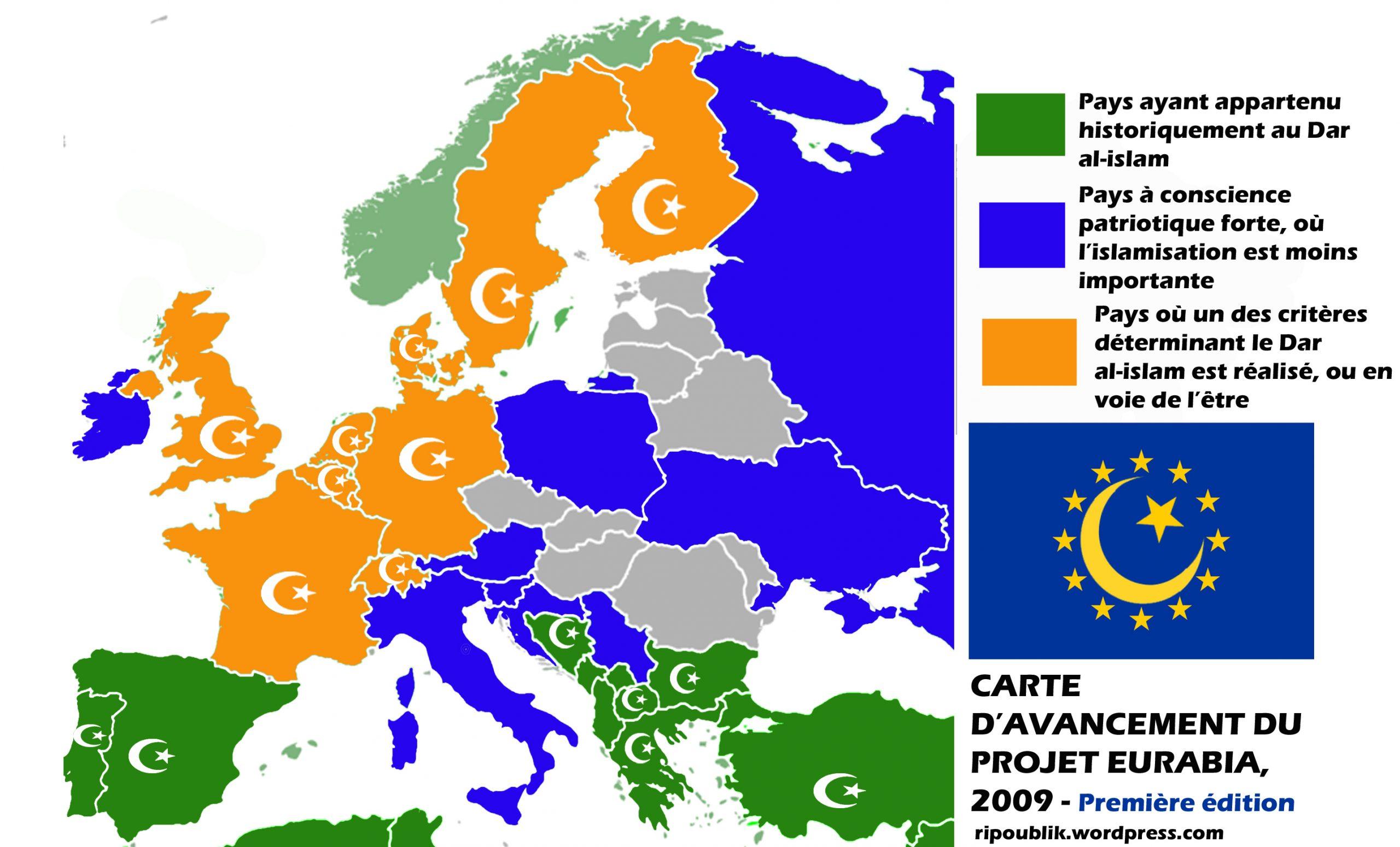 Dar Al-Islam: Etat D'avancement De L'islamisation De L destiné Carte Des Pays De L Europe