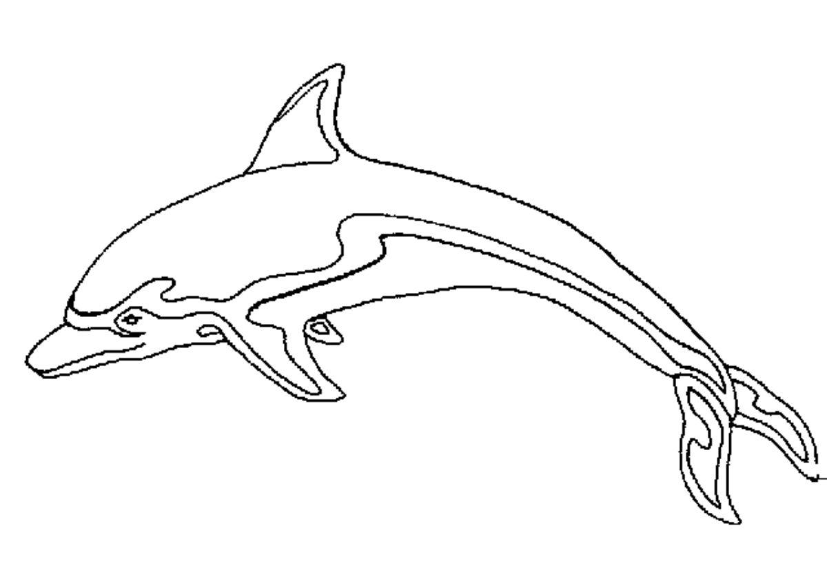 Dauphin #34 (Animaux) – Coloriages À Imprimer pour Dessin Dauphin À Imprimer