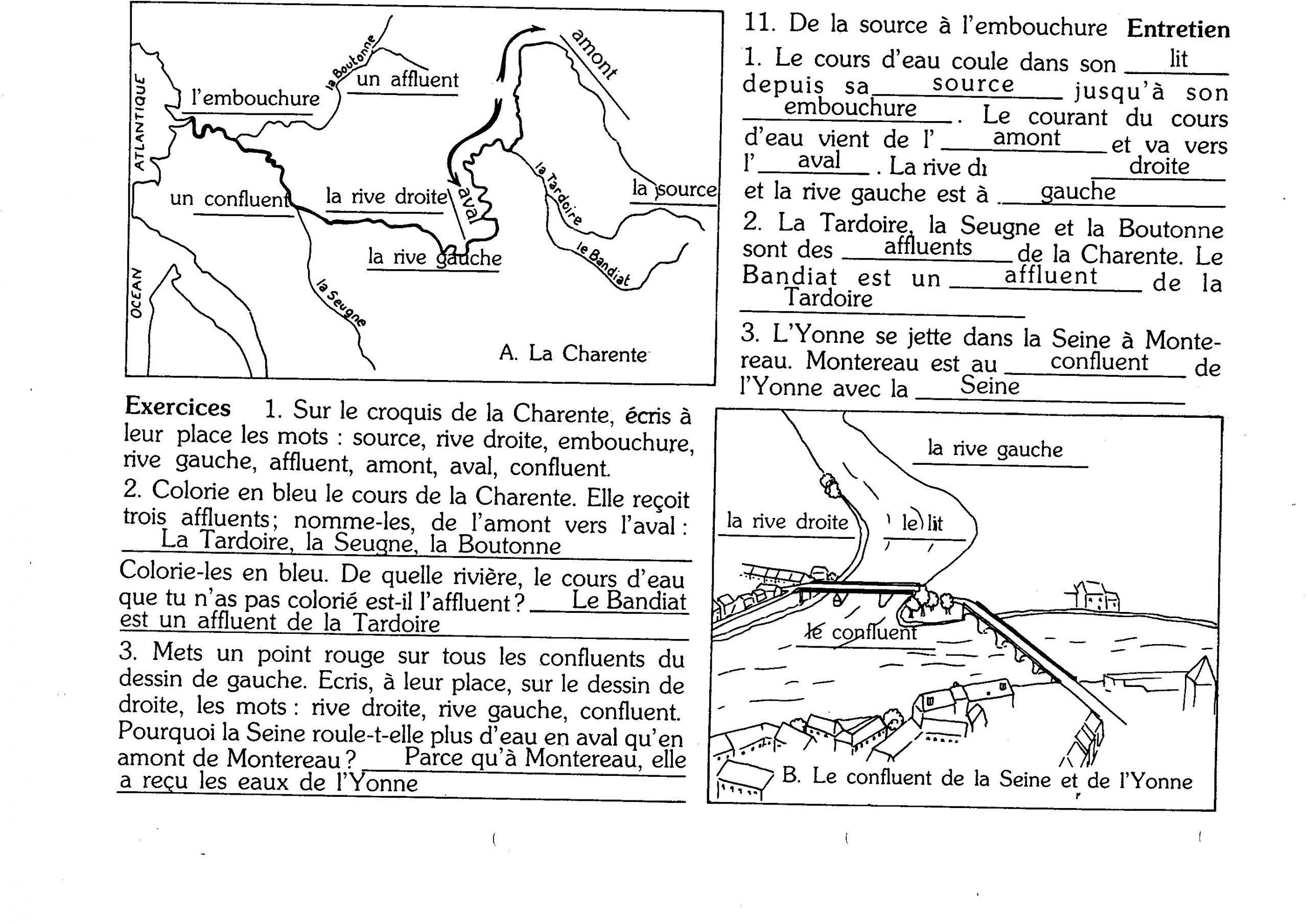 Ddm - Espace: Rivières Et Fleuves - Tata Nananou concernant Fleuves Ce2