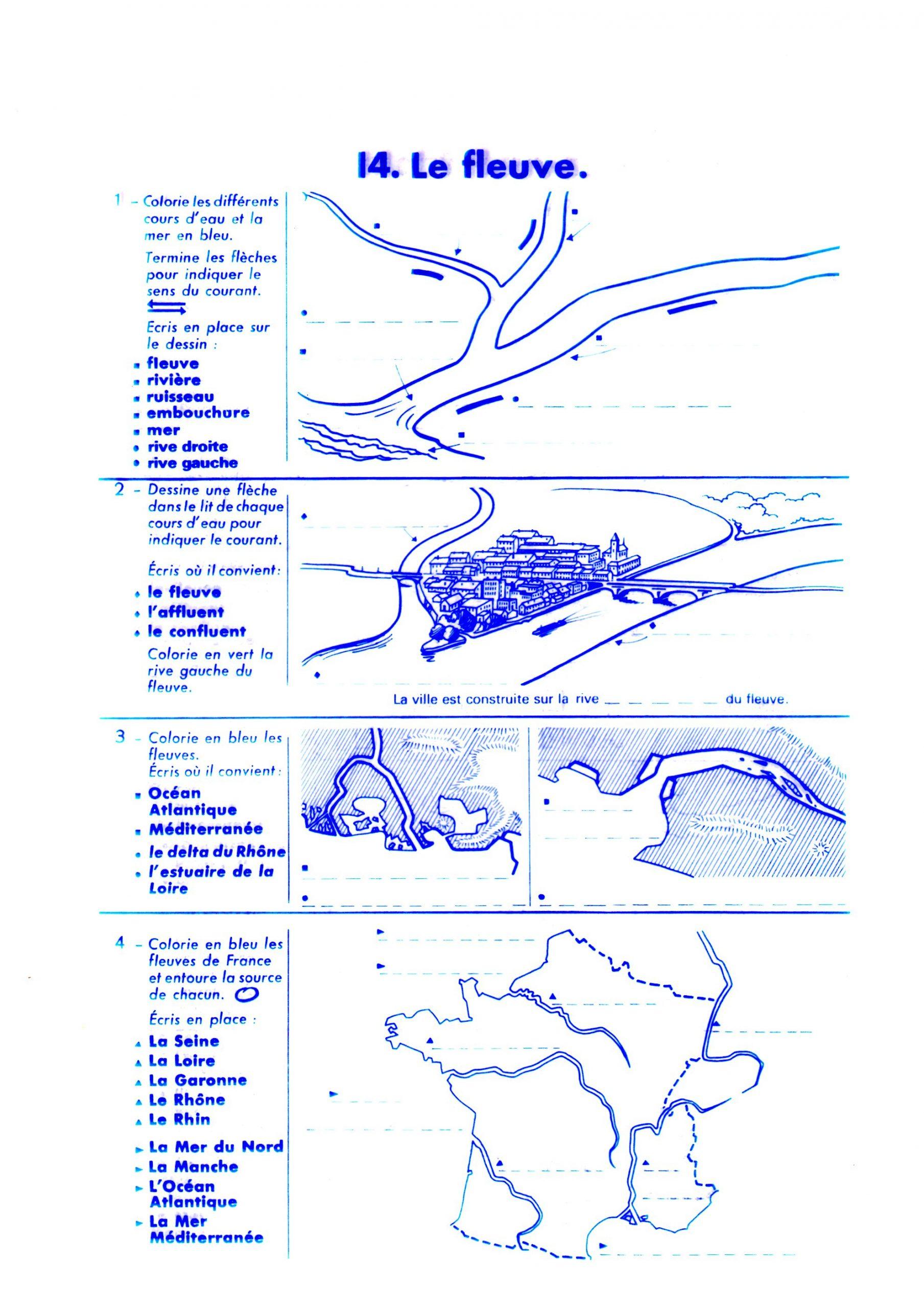 Ddm - Espace: Rivières Et Fleuves - Tata Nananou destiné Fleuves Ce2