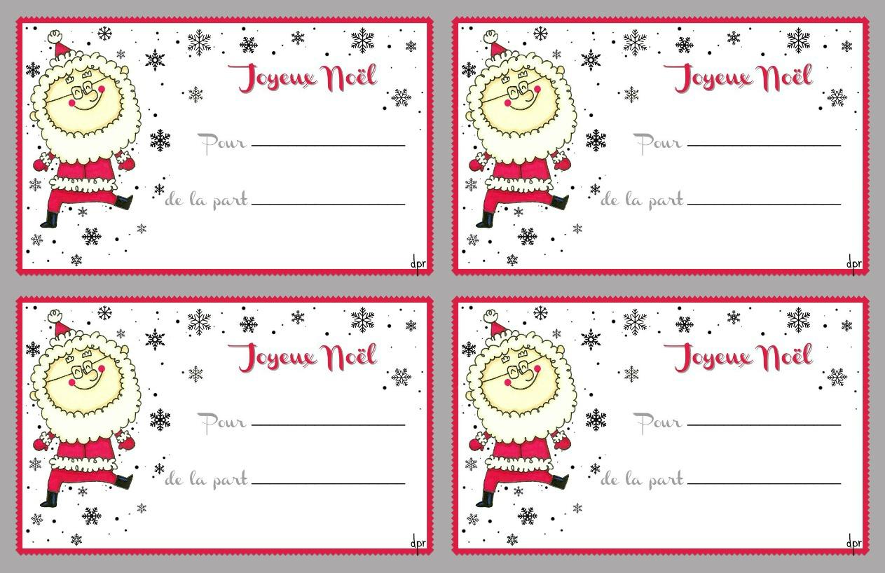 De Jolies Étiquettes( À Imprimer) - Des P'tits Riens tout Etiquette Noel A Imprimer