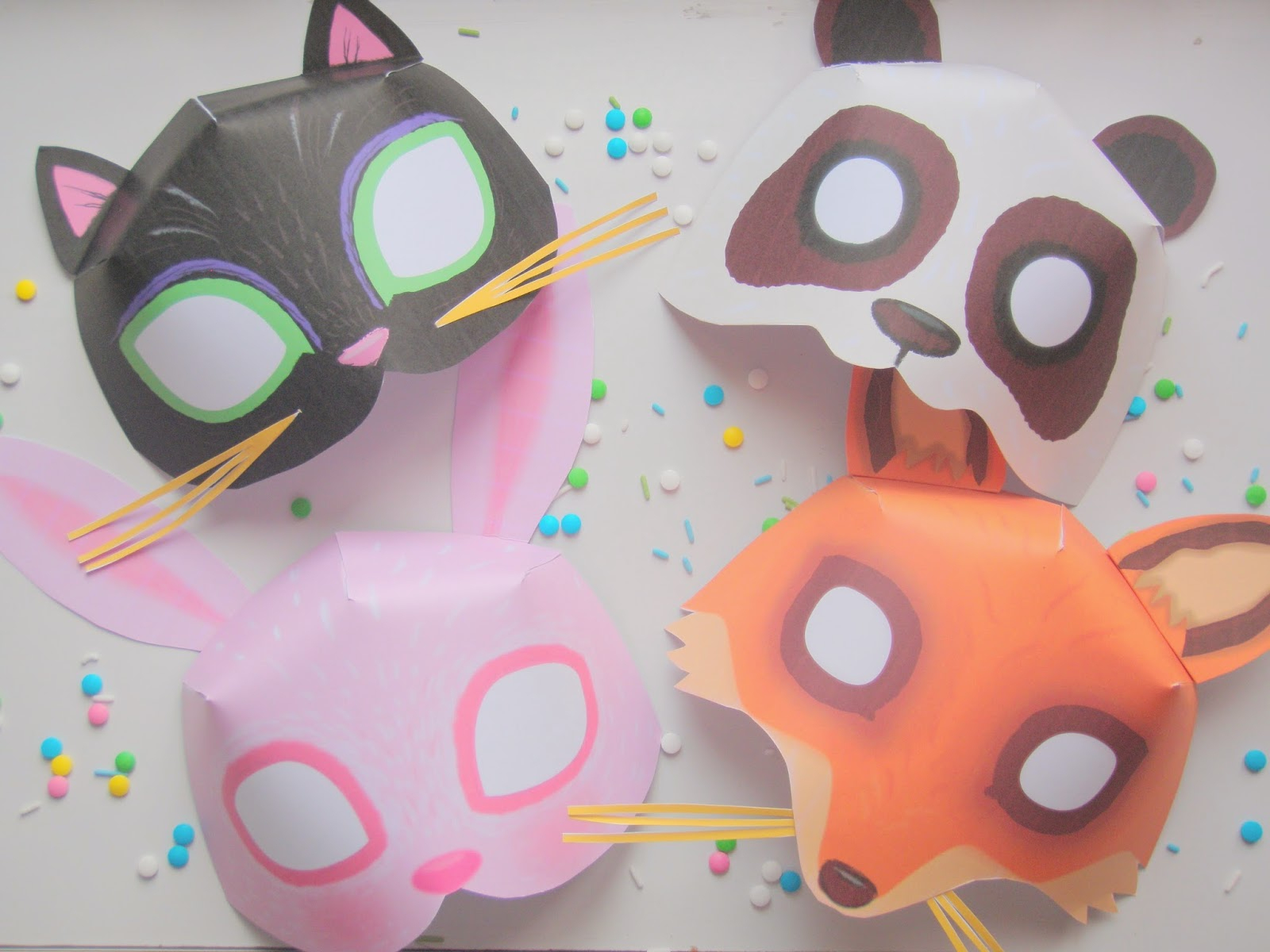 De Jolis Masques À Imprimer Pour Mardi Gras ♥ encequiconcerne Masques Animaux À Imprimer