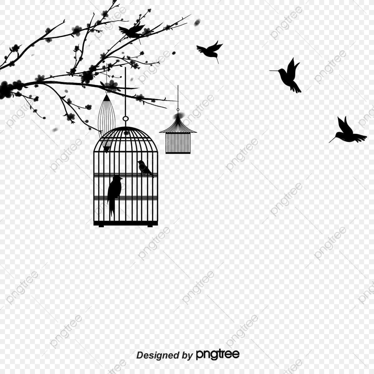 De La Cage D'oiseau Et Esthétique De Silhouette Noire concernant Dessin De Cage D Oiseau