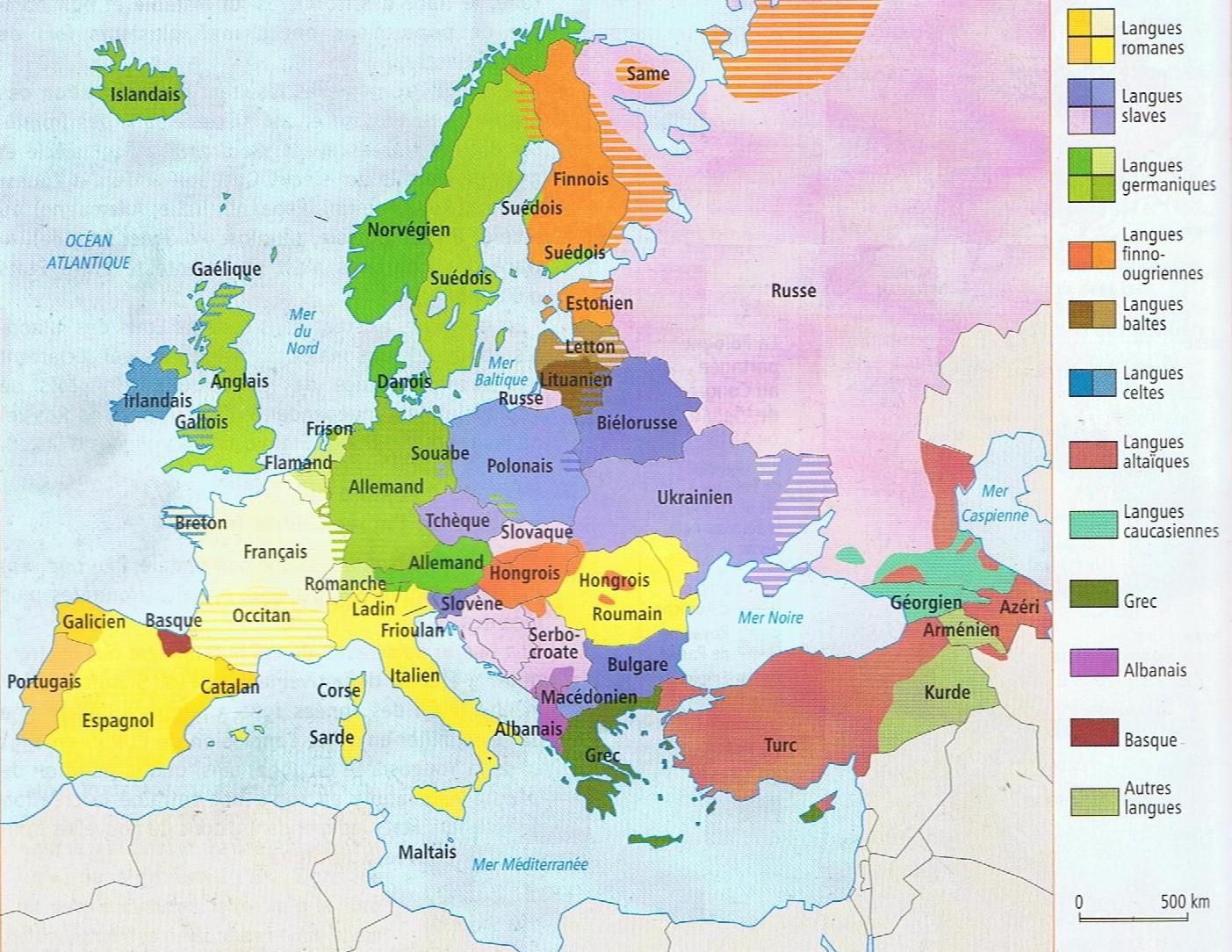De L'espace Européen Aux Territoires De L'union Européenne intérieur Carte Géographique Europe