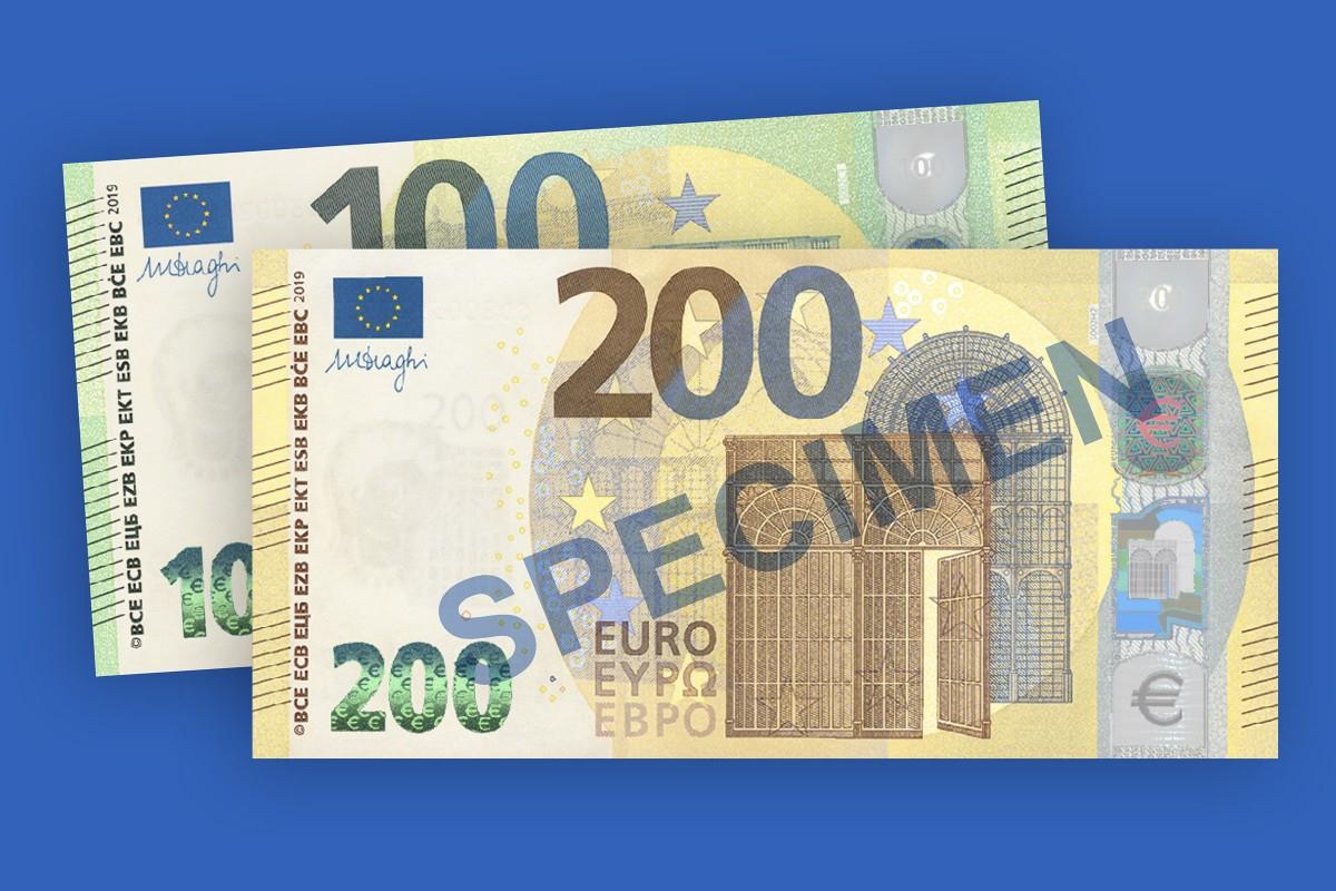 De Nouveaux Billets De 100 € Et 200 € En 2019, Fiscalité Et avec Billet De 100 Euros À Imprimer