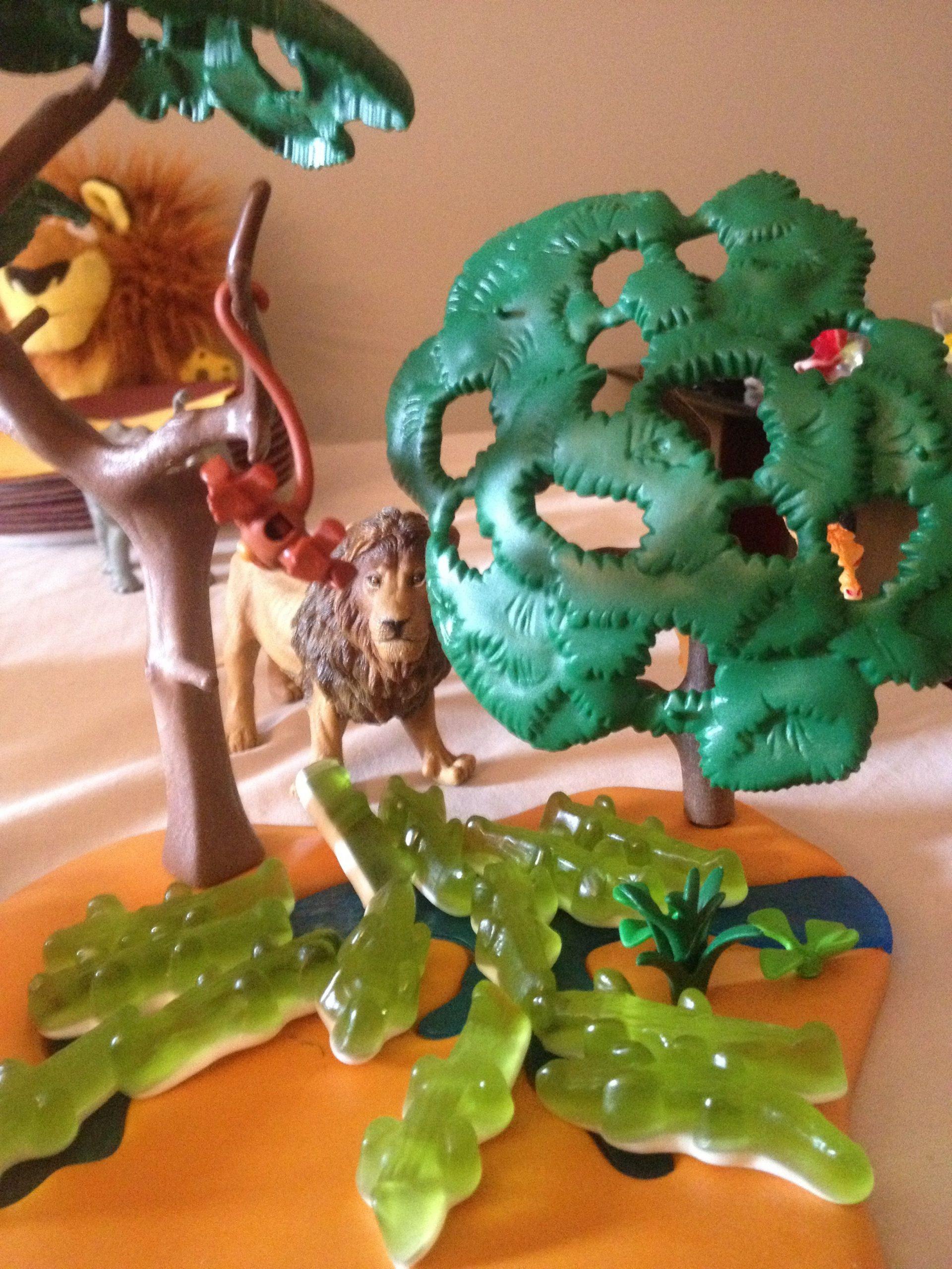 Déco Anniversaire Savane - Crocodile Haribo - Jeux Playmobil dedans Jeux De Savane