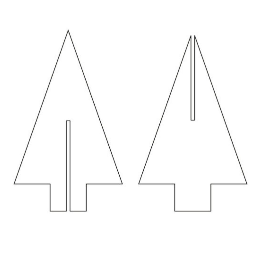 Déco De Noël Fait Main : Des Marque-Places Sapin En Carton encequiconcerne Gabarit Sapin De Noel A Imprimer