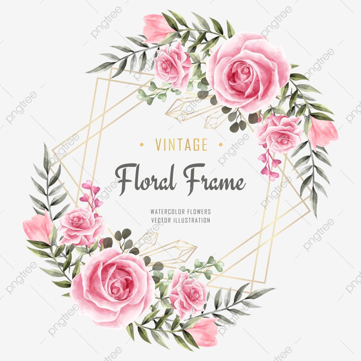 Décoration De Cadre De Fleur Floral Aquarelle De Luxe Pour intérieur Schéma D Une Fleur