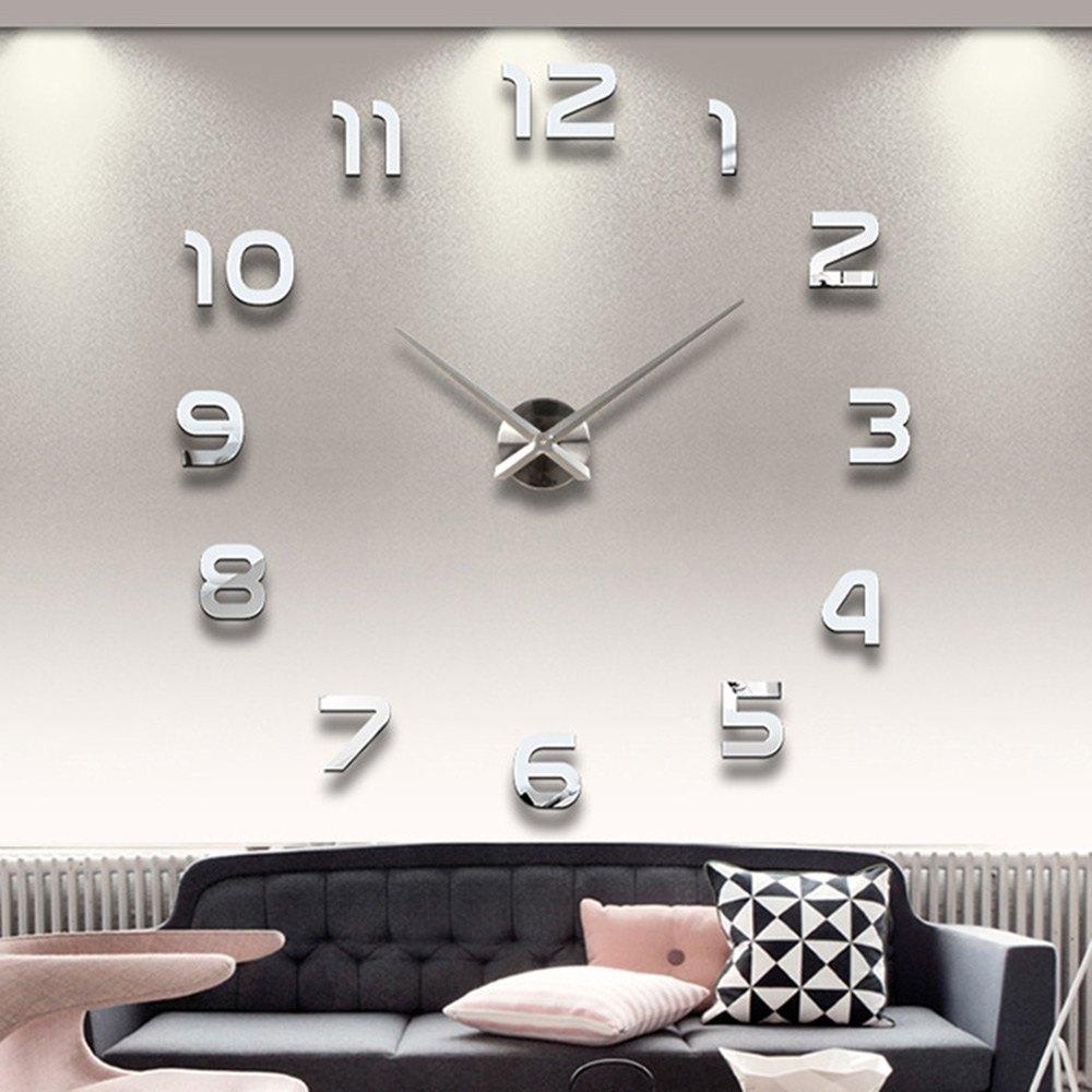 Décoration De Gros-Home Big Number Miroir Horloge Murale Design Moderne  Grand Designer 3D Horloge Murale Montre Mur Cadeaux Uniques 1611371 encequiconcerne Dessin D Horloge