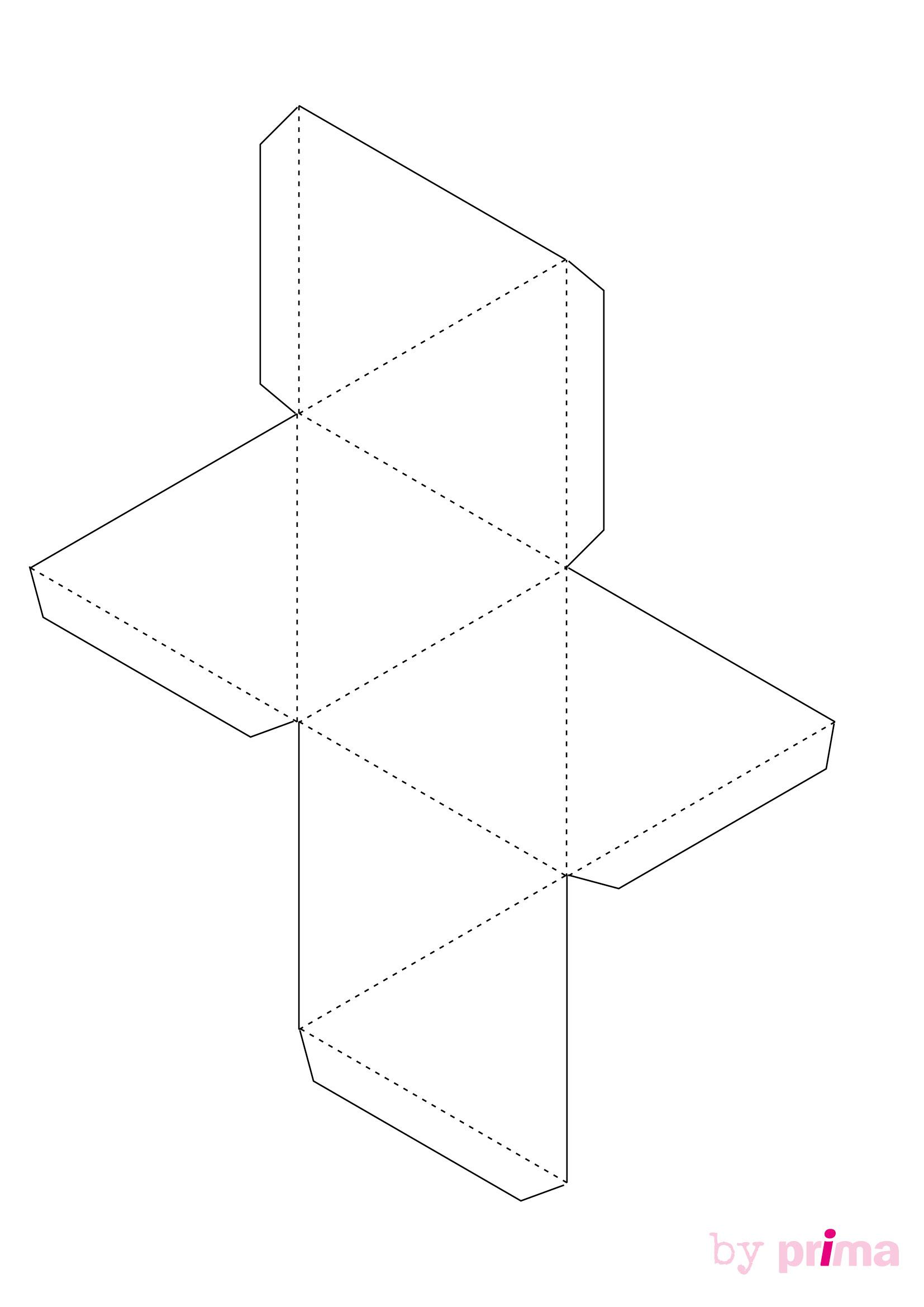 Décoration En Papier : Formes En 3D À Imprimer Gratuitement pour Patron De Maison En Papier A Imprimer