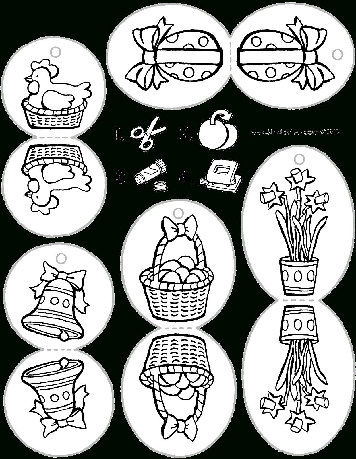 Décoration Pour Arbre De Pâques - Kiddicoloriage pour Dessin Pour Paques
