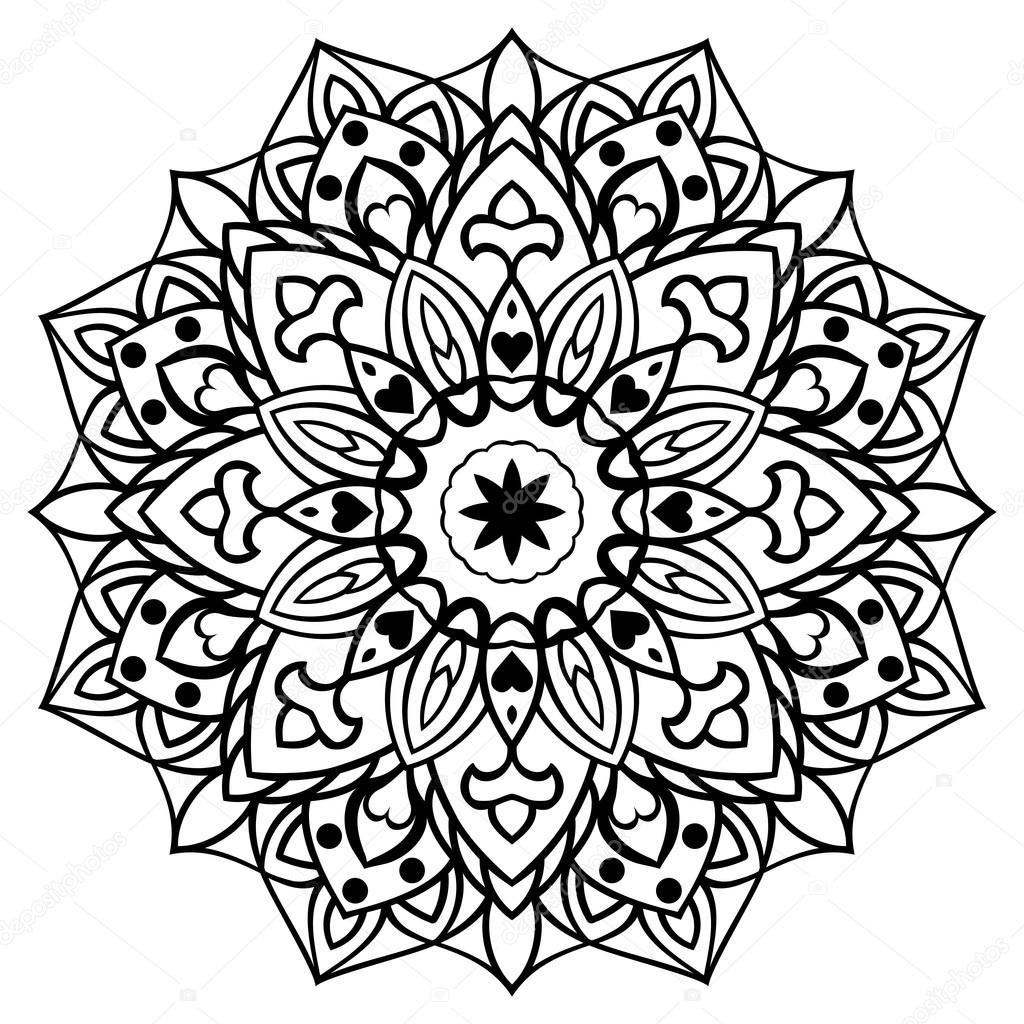 Decorative Oriental Mandala. — Stock Vector © Matorinni serapportantà Rosace A Imprimer