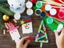 Décorer Son Sapin De Noël Avec Des Objets Fabriqués Par Les concernant Activité Manuel Pour Enfant