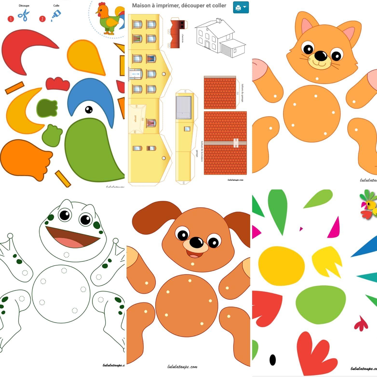 Découpage Bricolage Enfant | Découpage Maternelle, Apprendre intérieur Découpage Collage Maternelle À Imprimer