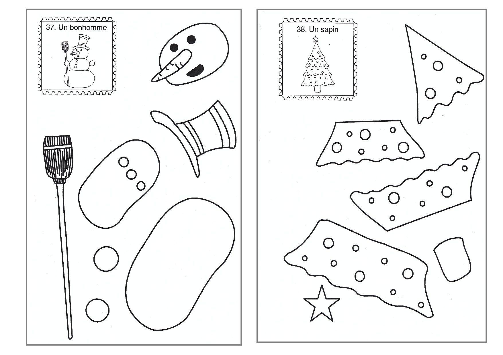 Découpage/collage De Noël | Animation Noel, Noel Maternelle intérieur Découpage Collage A Imprimer