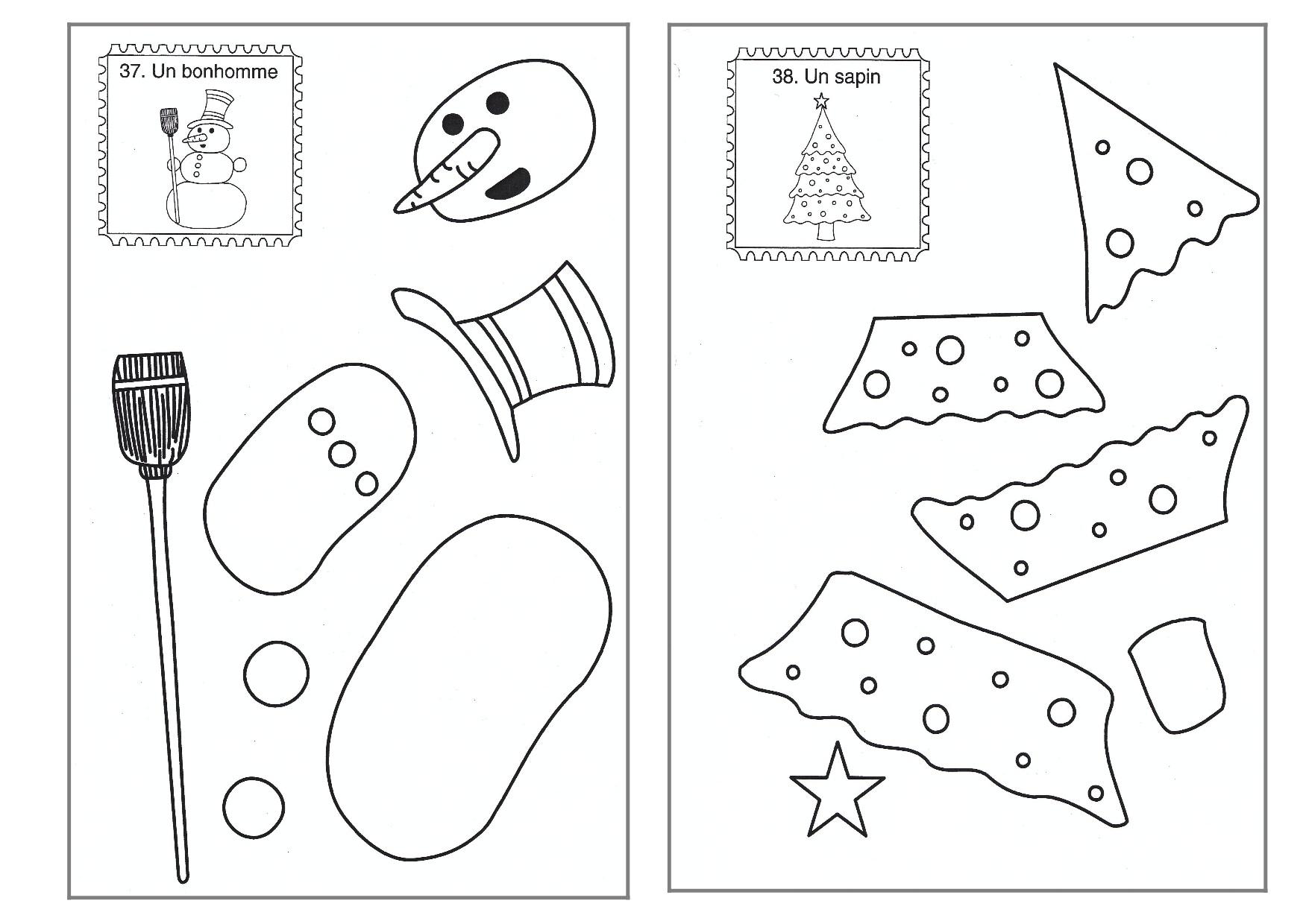 Découpage/collage De Noël - La Classe De Luccia ! dedans Jeux De Découpage