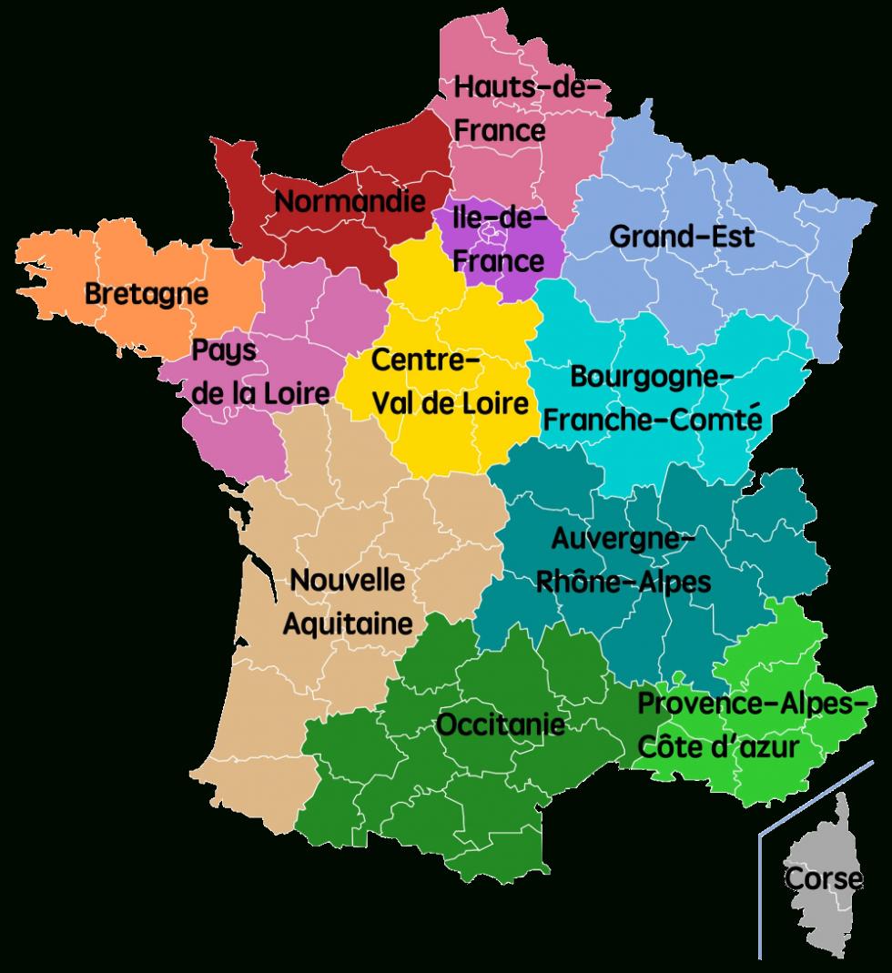 Découpage Du Territoire Métropolitain — Violoneux.fr à Anciennes Régions