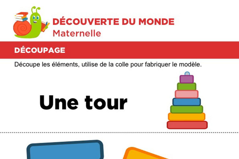 Découpage Et Collage D'une Tour encequiconcerne Découpage Collage Maternelle À Imprimer