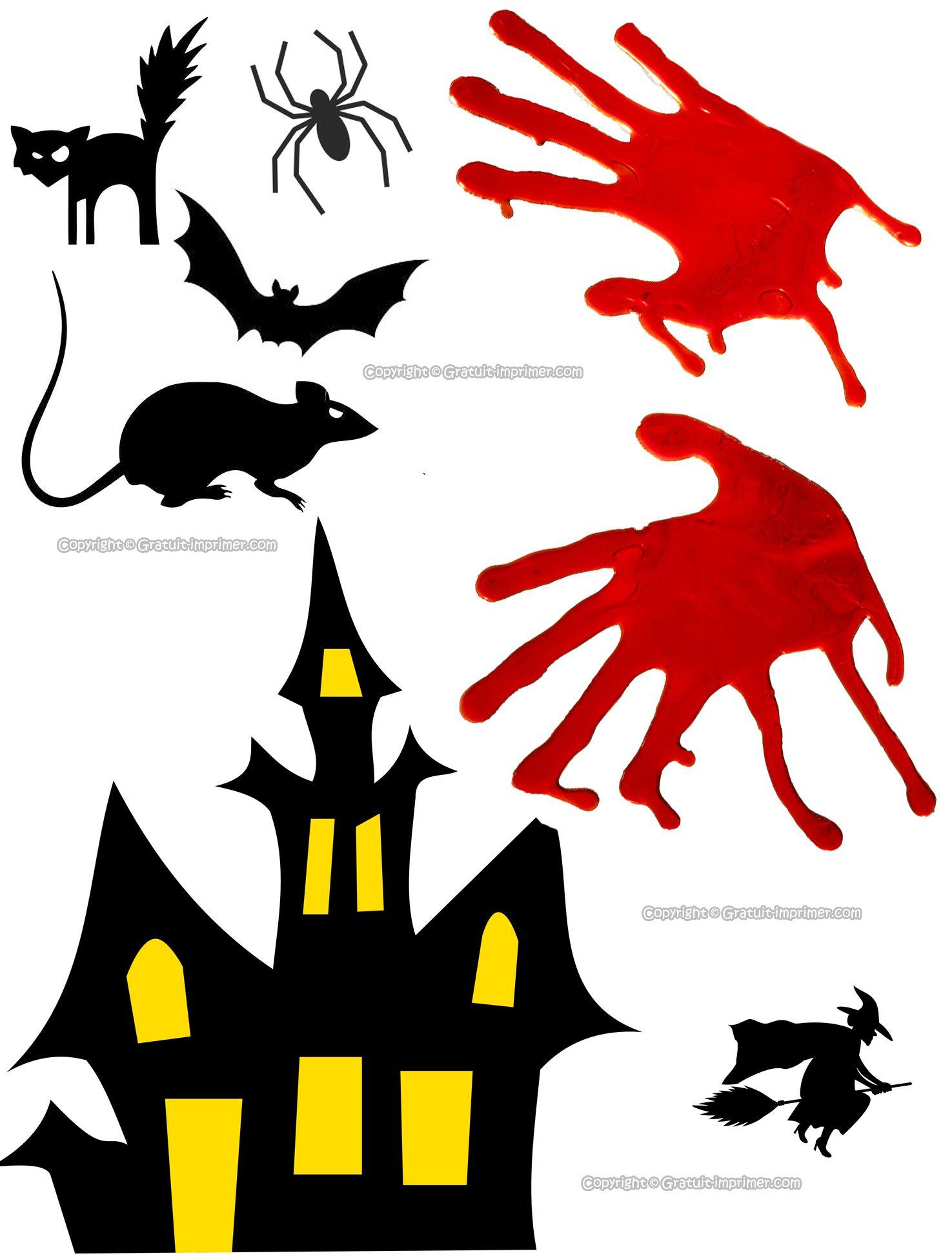 Découpage Halloween Gratuit : Maison Hantée, Rat, Chauve pour Découpage Gratuit À Imprimer