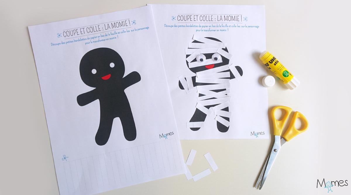 Découpe Et Colle : La Momie ! - Momes serapportantà Jeux De Découpage
