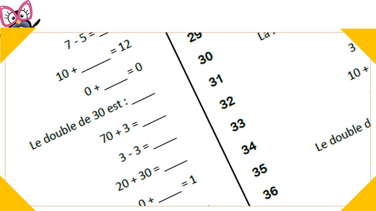 Défi Calcul Mental Au Cp : Programmation Et Générateur tout Travail De Cp A Imprimer Gratuit