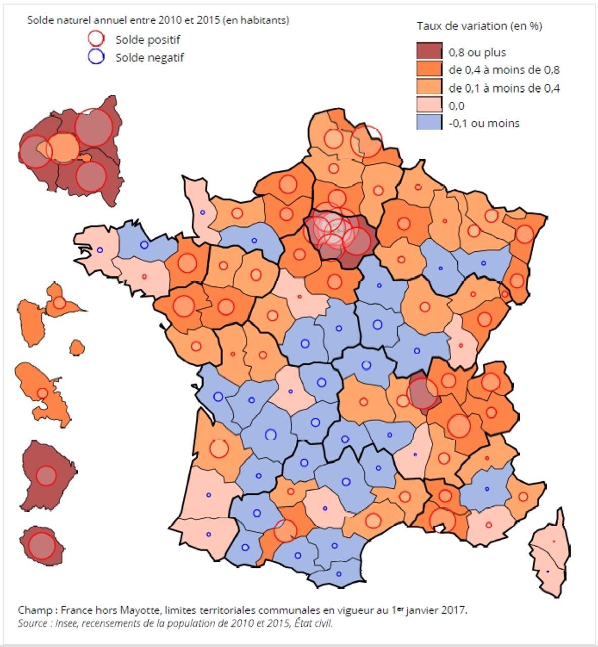 Démographie : Les Départements Qui Attirent Et Ceux Qui pour Tableau Des Départements Français