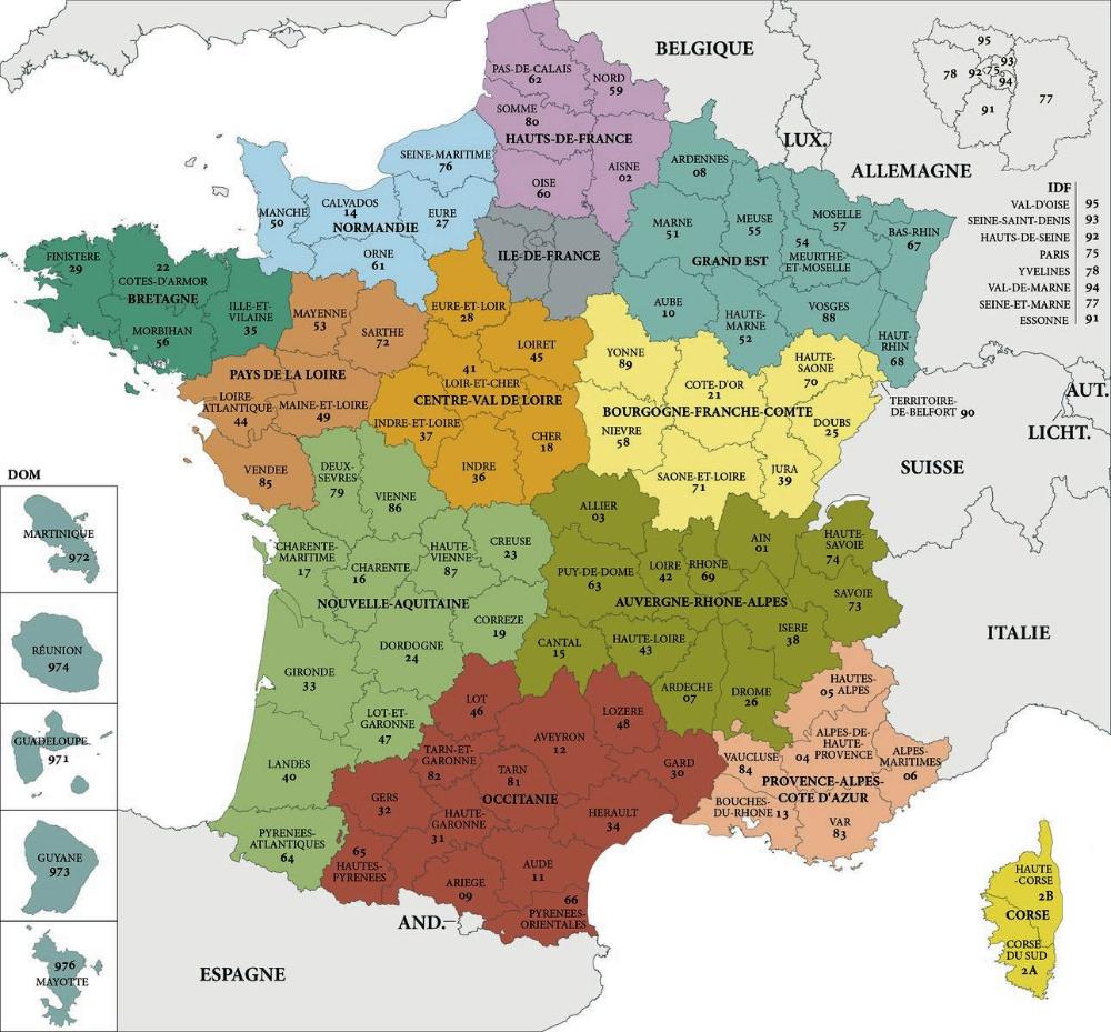 Département France - Recherche Google dedans Département 13 Carte