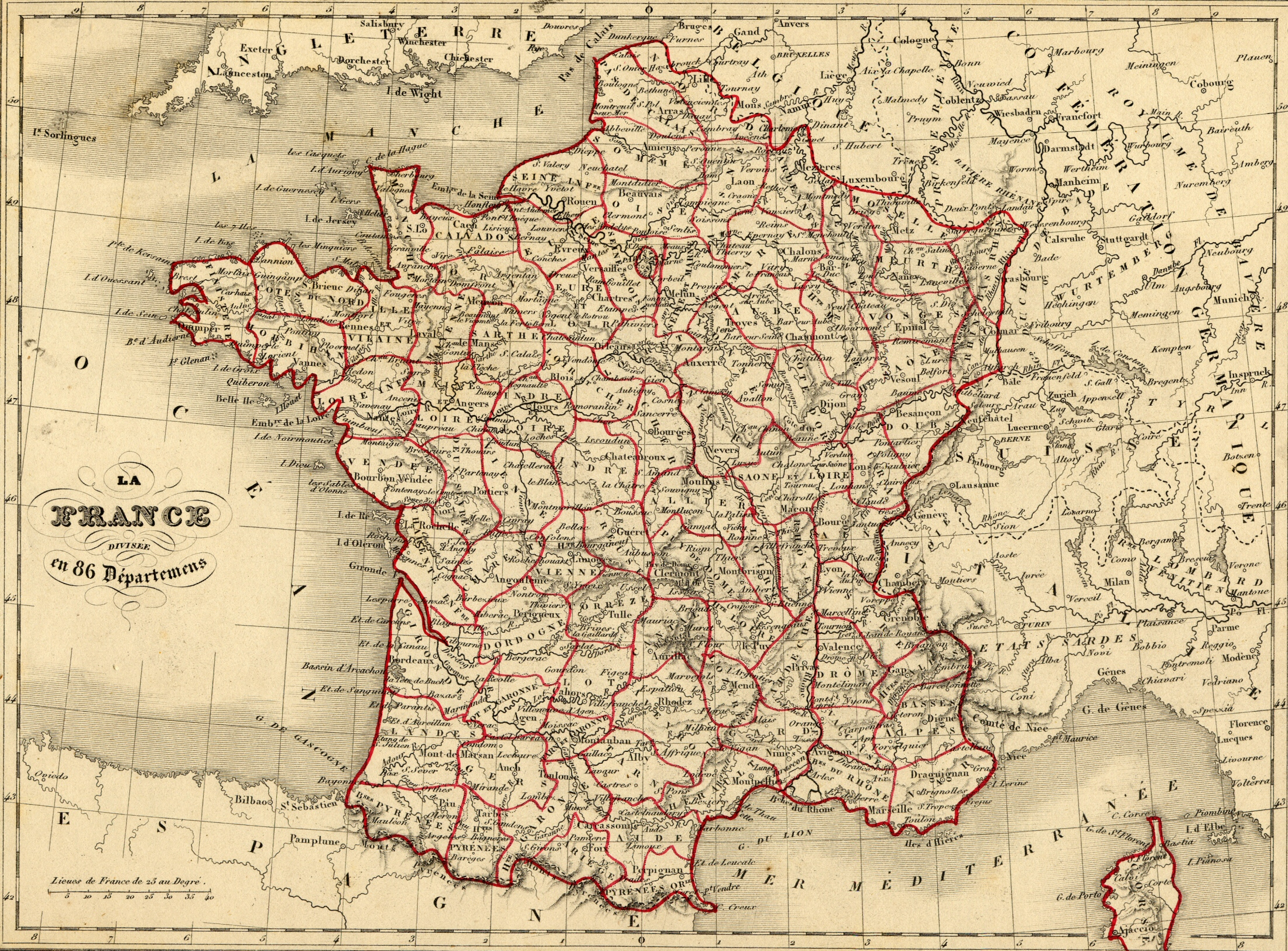 Départements Depuis 1790 concernant Carte De France Numéro Département