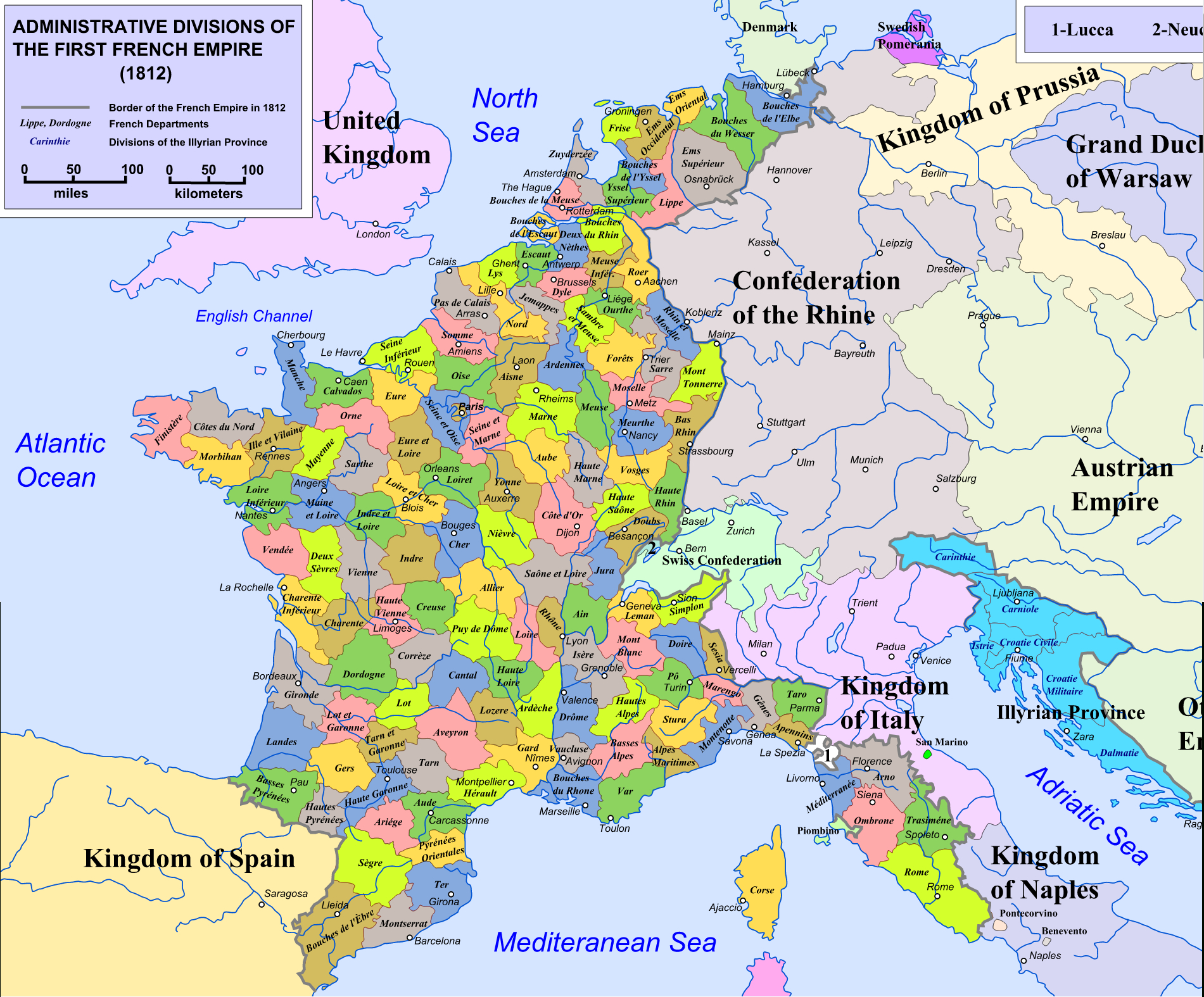 Départements Depuis 1790 serapportantà Carte De France Numéro Département