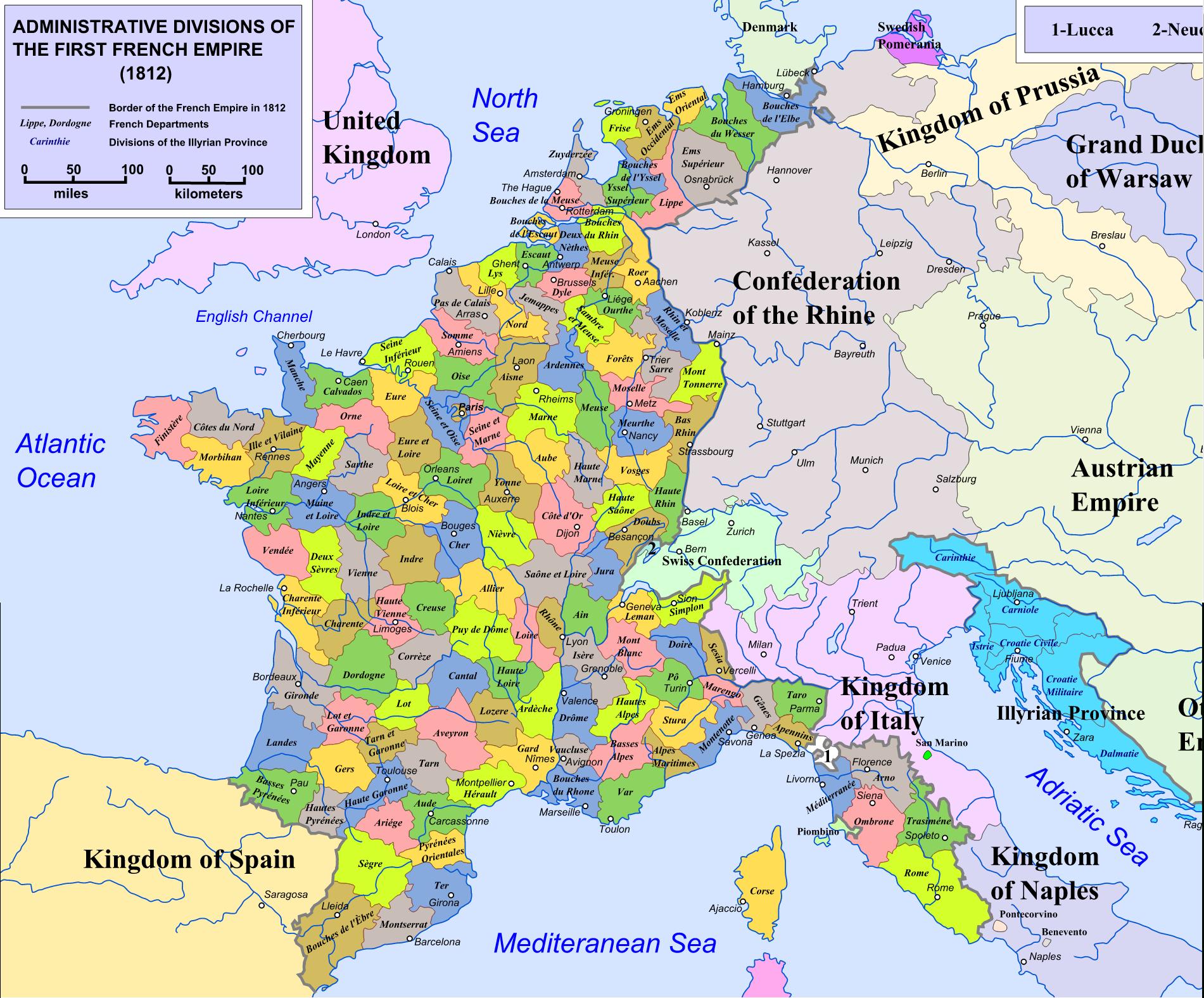 Départements Depuis 1790 tout Carte Departements Francais