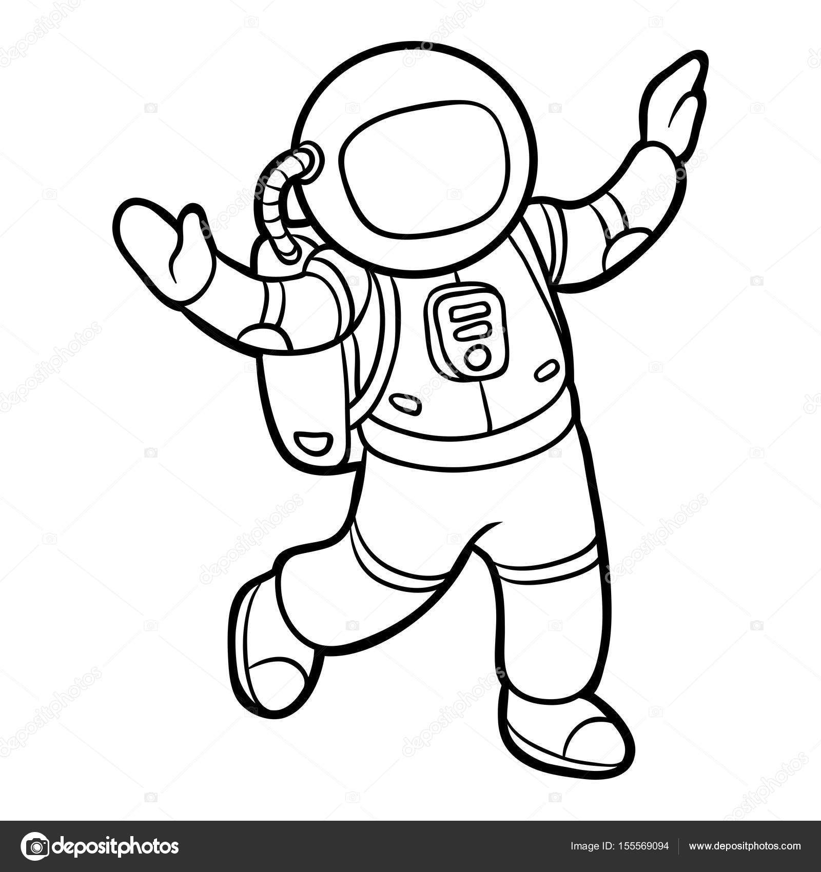 Depositphotos_155569094-Stock-Illustration-Coloring-Book concernant Coloriage Astronaute