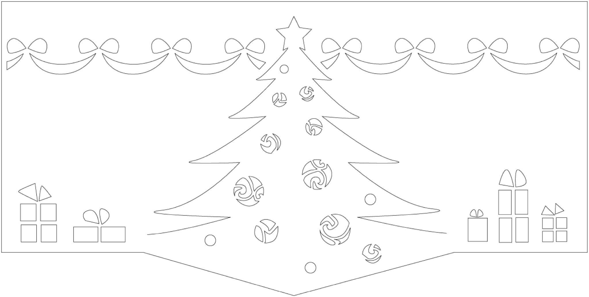 Des Cartes De Vœux Pop-Up Pour Noël - Journal D'une Fouineuse destiné Gabarit Sapin De Noel