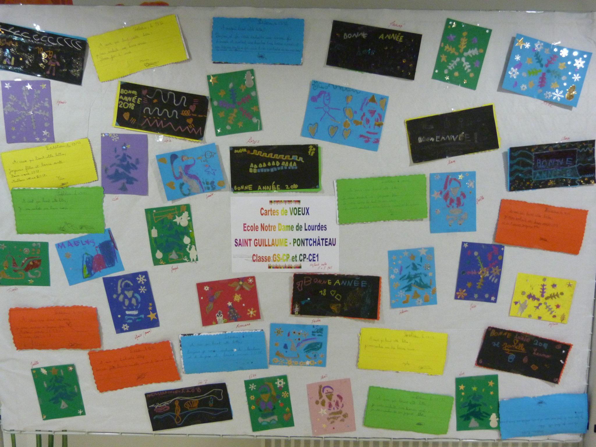 Des Cartes De Vœux « Solidaires » En Gs / Cp Et Cp /ce1 destiné Carte Noel Gs