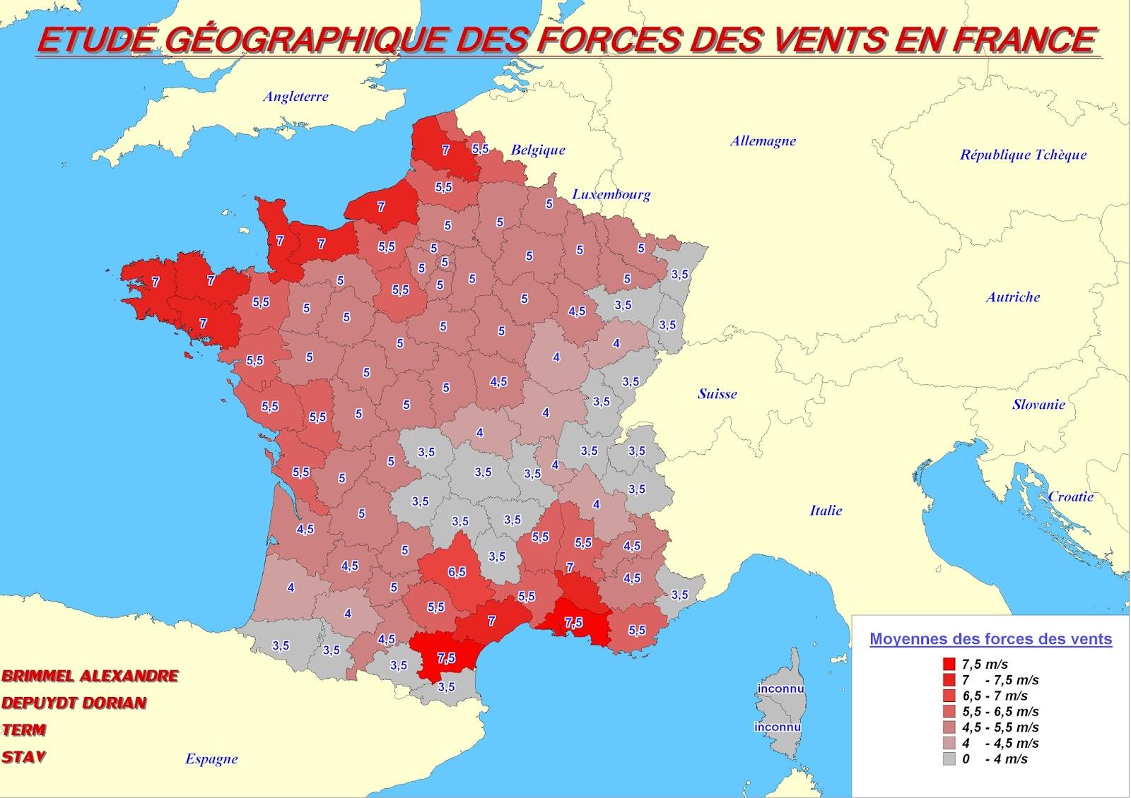 Des Cartes Et Des Élèves: Étude Géographique De L'énergie encequiconcerne Carte Geographique Du France