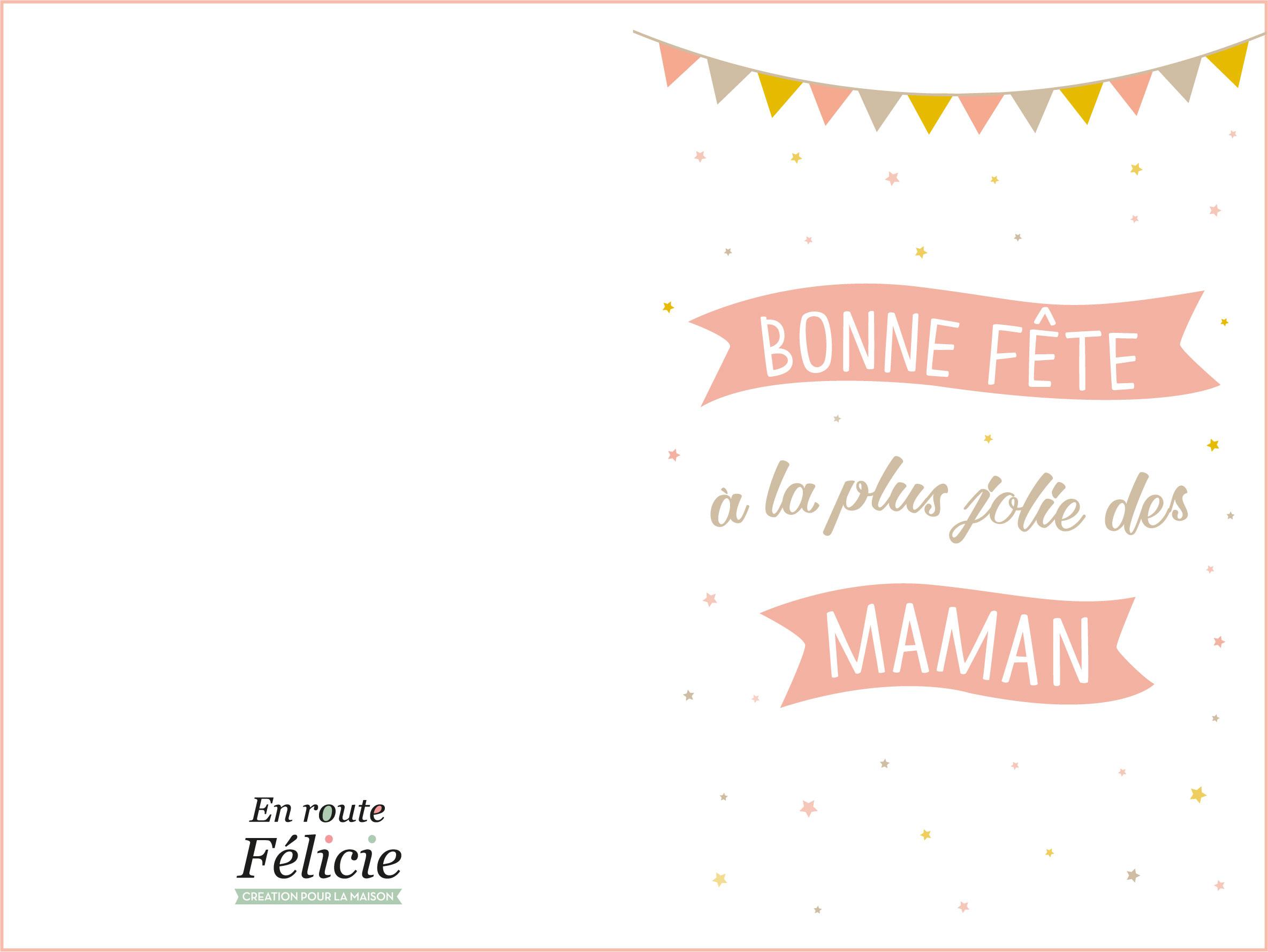 """Des Cartes Pour La Fête Des Mères """"en Route Félicie"""" (Free avec Carte Fête Des Mères À Imprimer"""