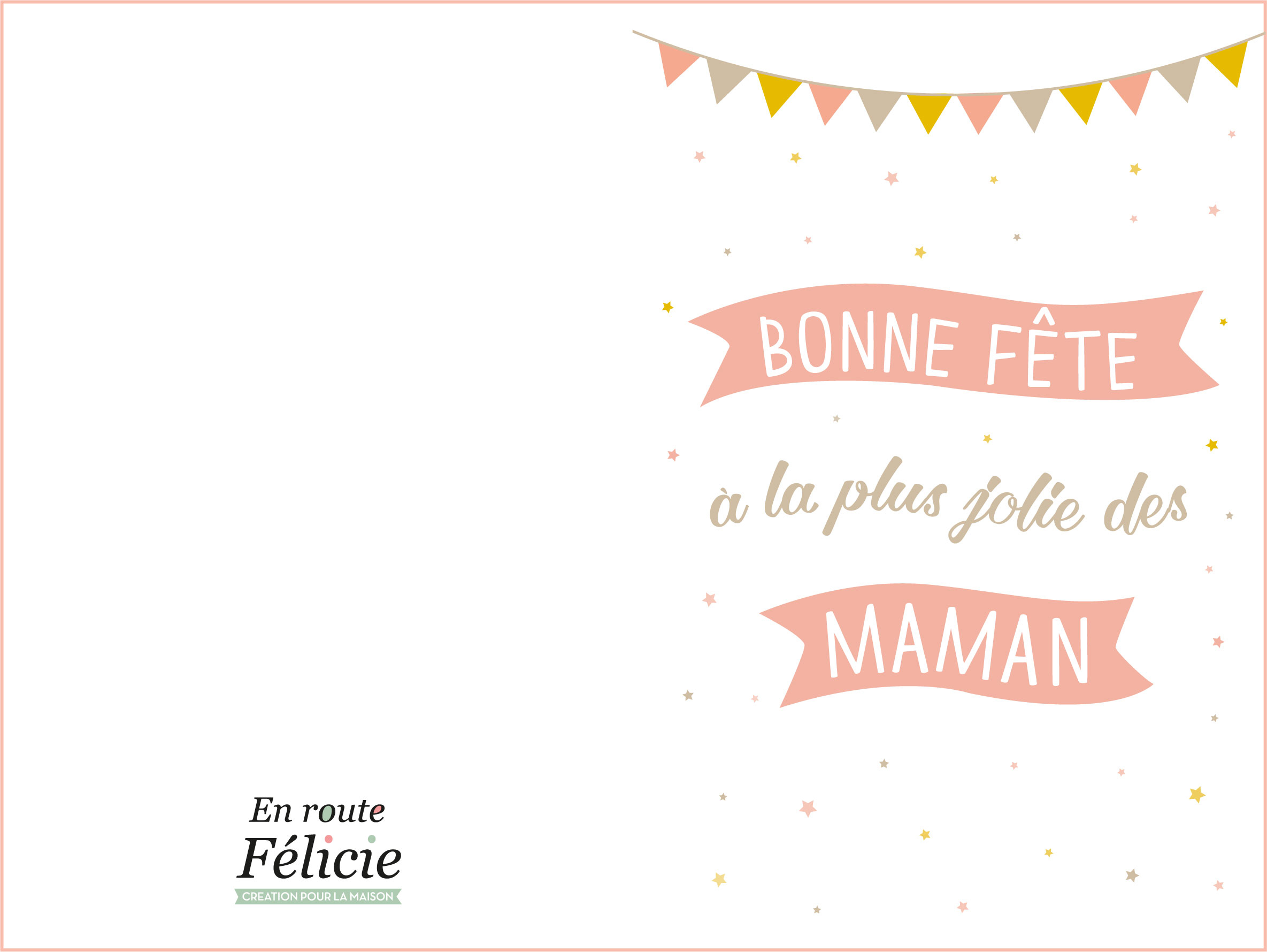 """Des Cartes Pour La Fête Des Mères """"en Route Félicie"""" (Free pour Carte A Imprimer Fete Des Meres"""