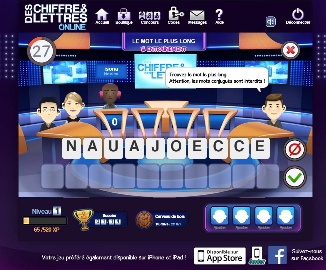 Des Chiffres Et Des Lettres En Ligne, Sur Pc Ou Tablette à Jeux En Ligne Pc Gratuit