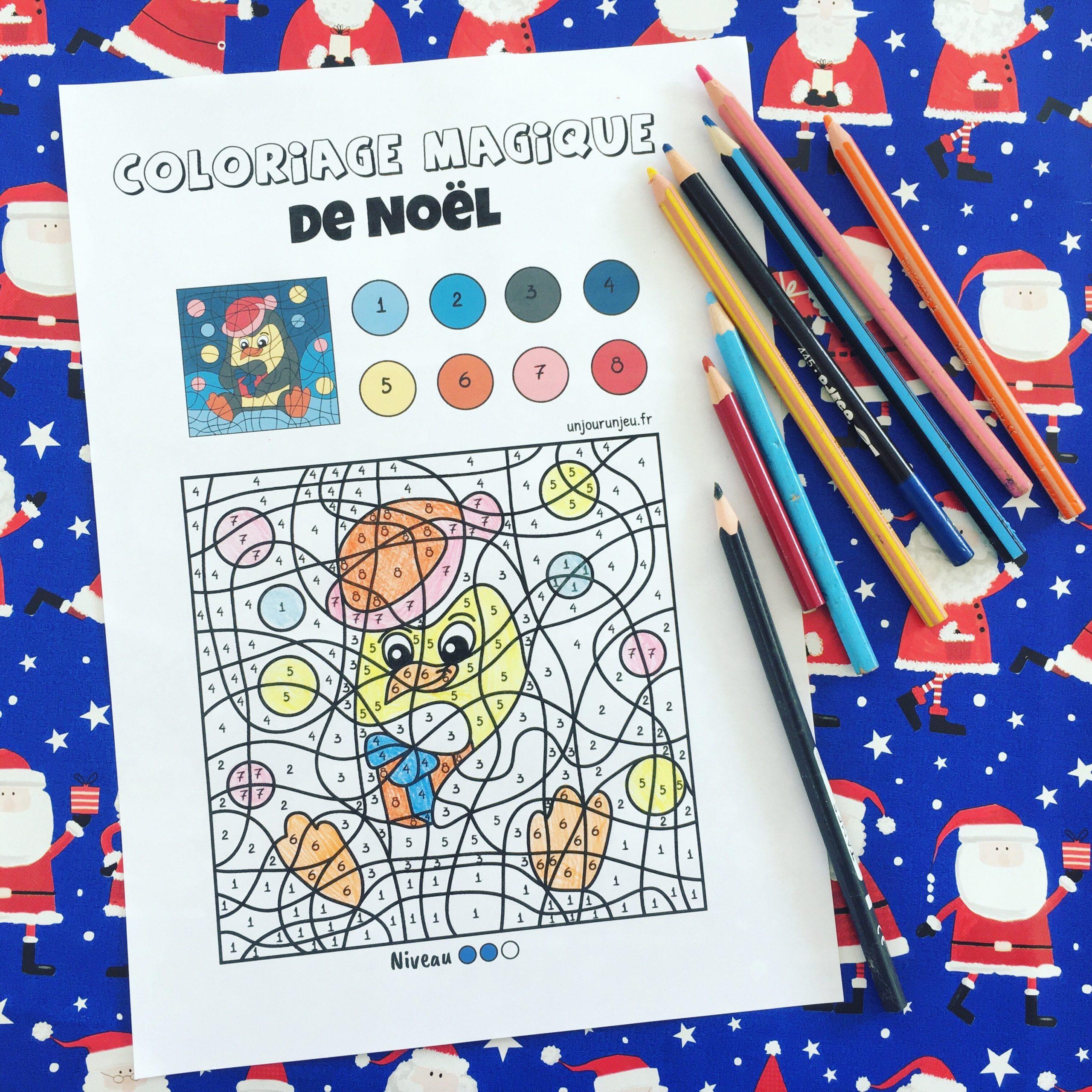 Des Coloriages Magiques De Noël À Imprimer - Un Jour Un Jeu à Coloriage Magique 4 Ans