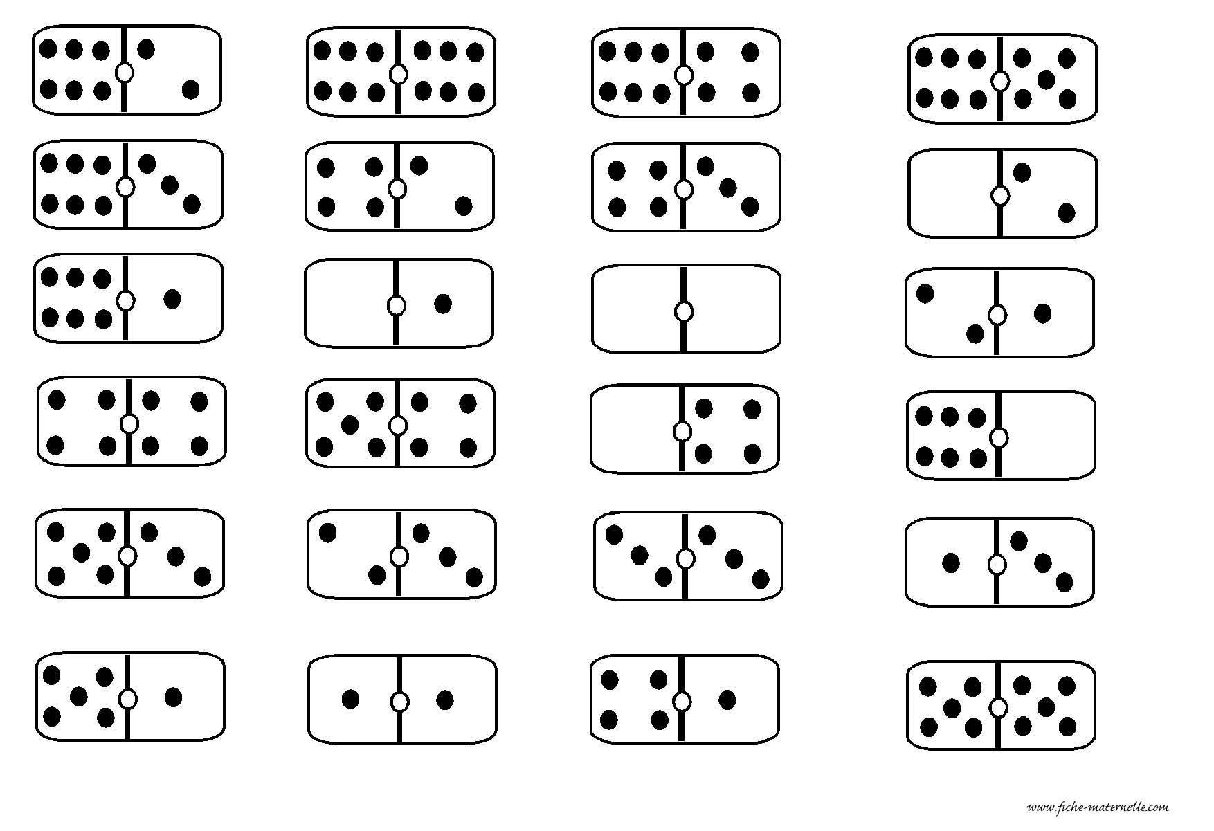 Des Dominos En Maternelle avec Dominos À Imprimer