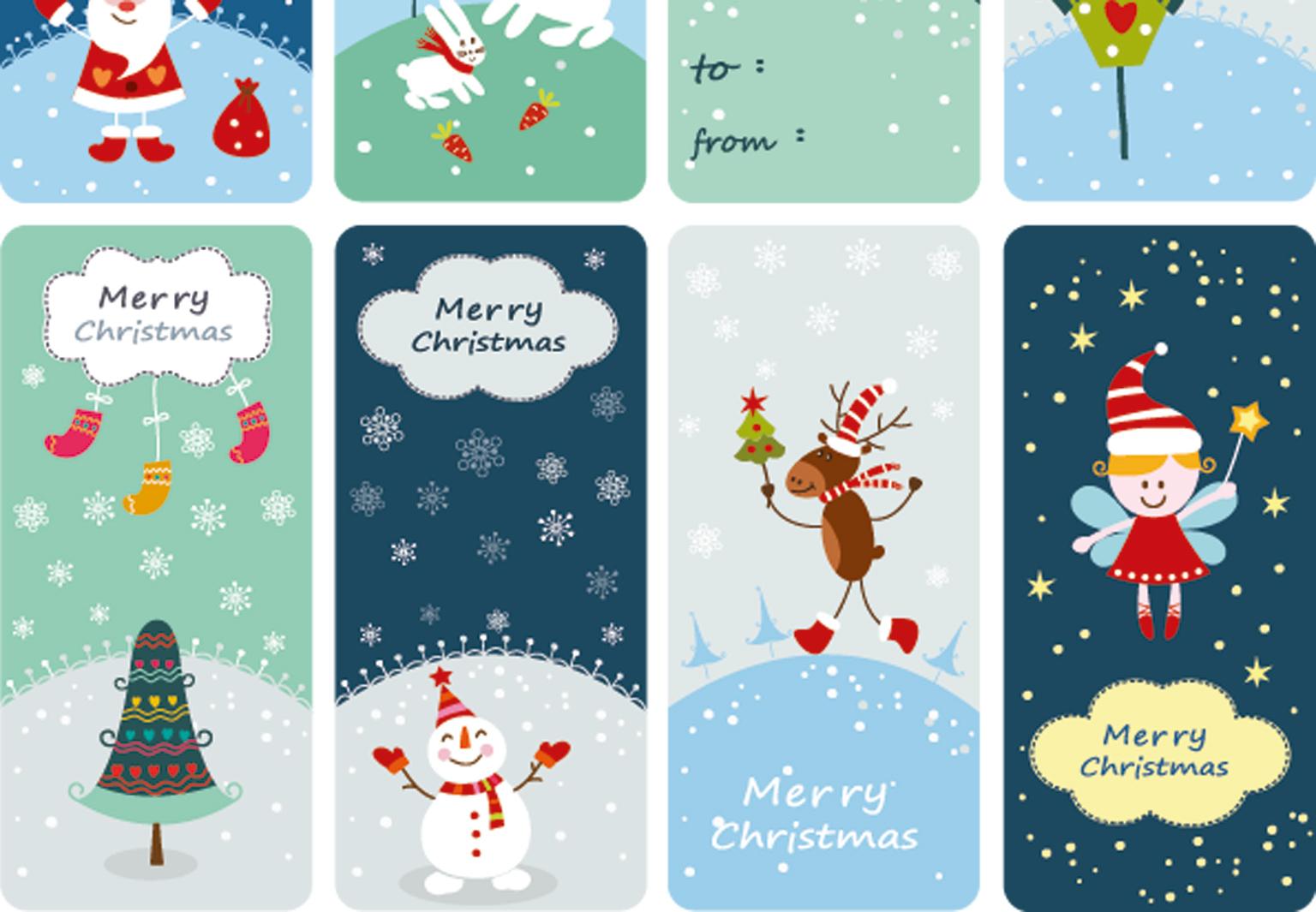 Des Étiquettes De Noël À Imprimer - Femme Actuelle intérieur Etiquette Cadeau Noel A Imprimer Gratuitement